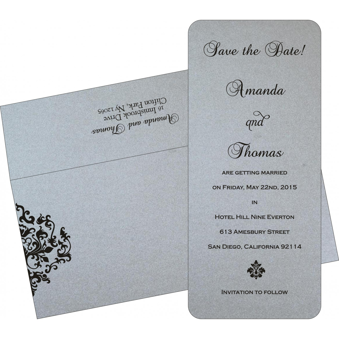Save The Date Cards : STD-8254H - 123WeddingCards