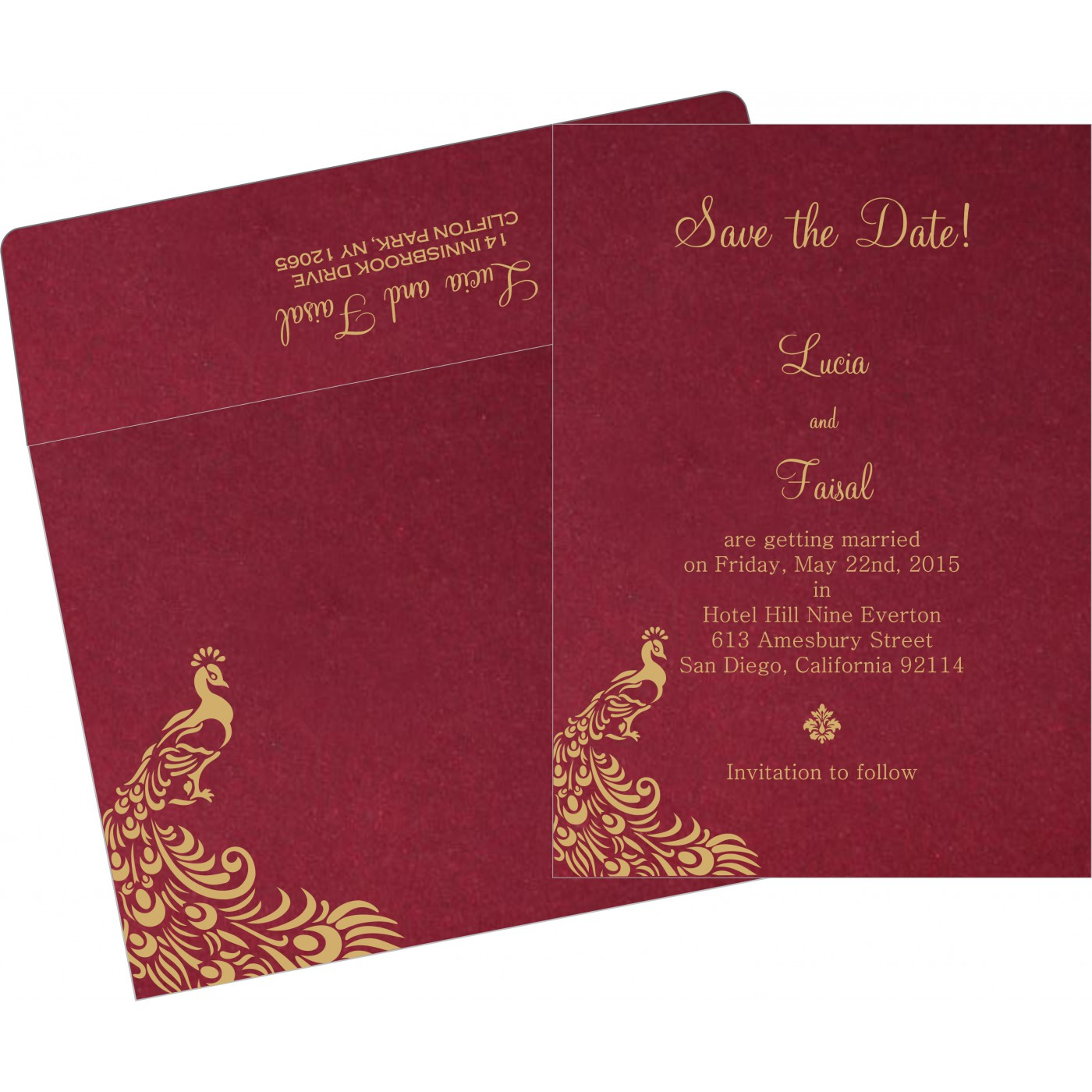 Save The Date Cards : STD-8255A - 123WeddingCards