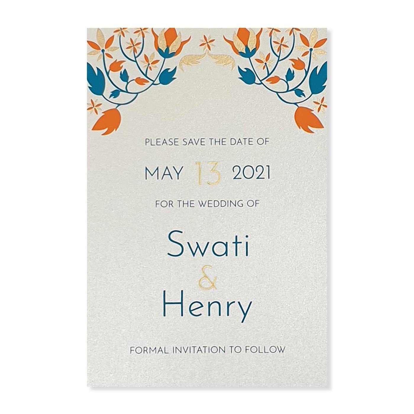 Save The Date Cards : STD-FAIRY_TALE_LEAVES - 123WeddingCards