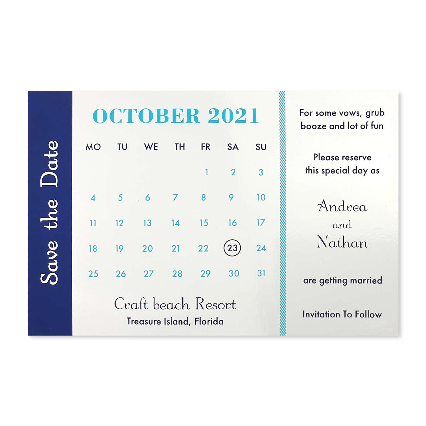 Save The Date Cards : STD-GET_THE_PASSPORT - 123WeddingCards