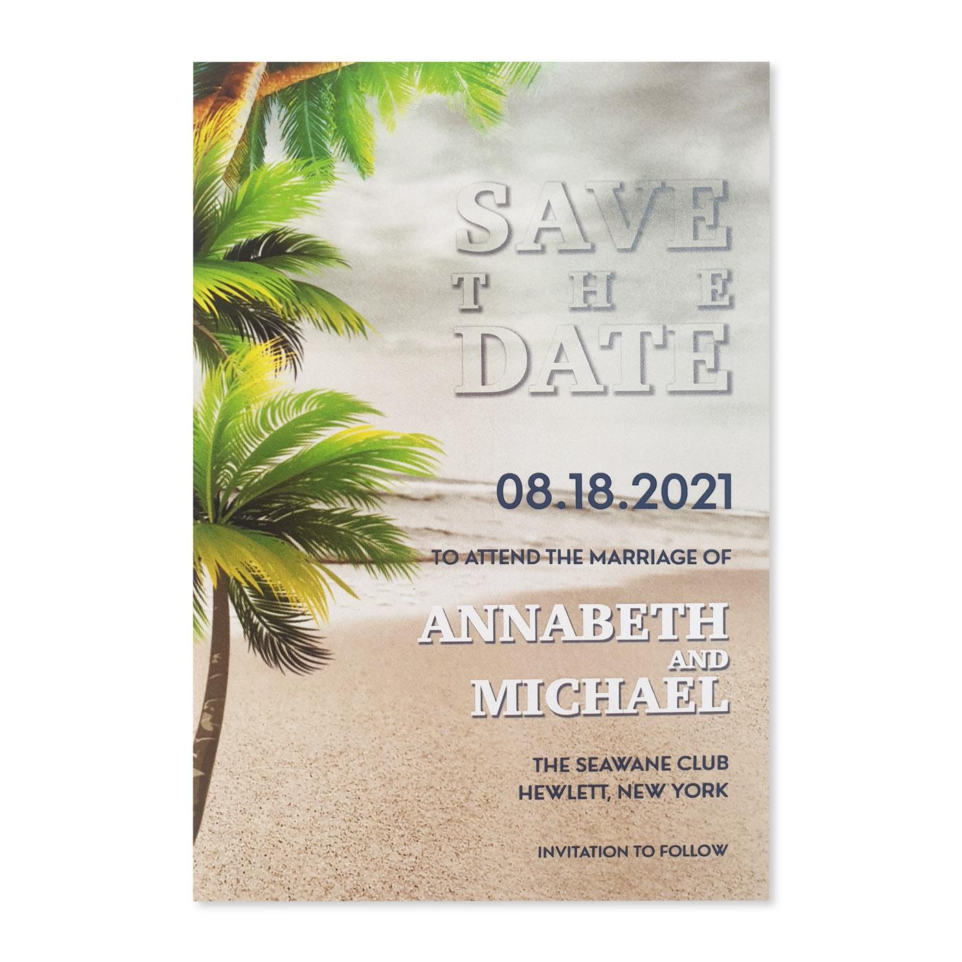 Save The Date Cards : STD-NAUTICAL_STARFISH - 123WeddingCards