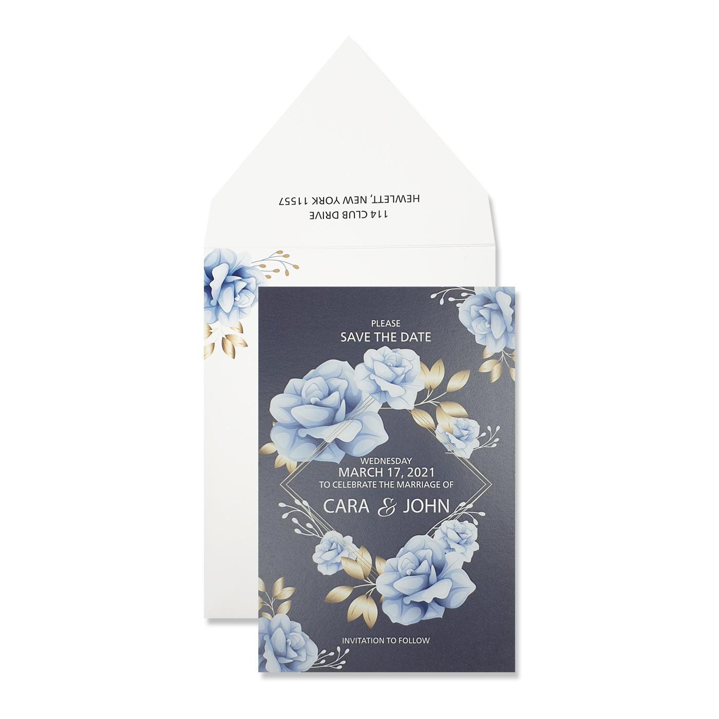 Save The Date Cards : STD-NIGHT_FLOWER - 123WeddingCards
