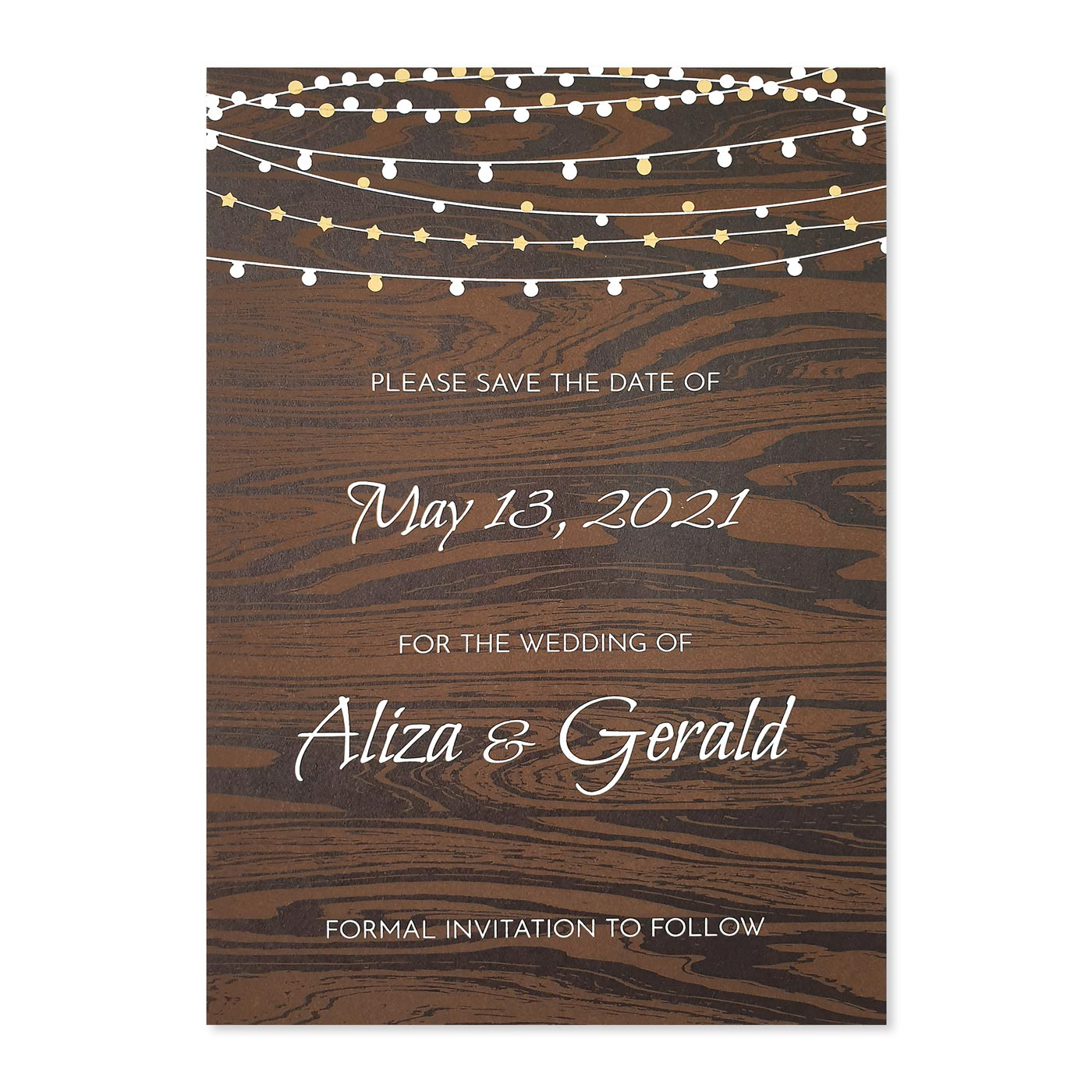 Save The Date Cards : STD-RUSTIC_STARS - 123WeddingCards