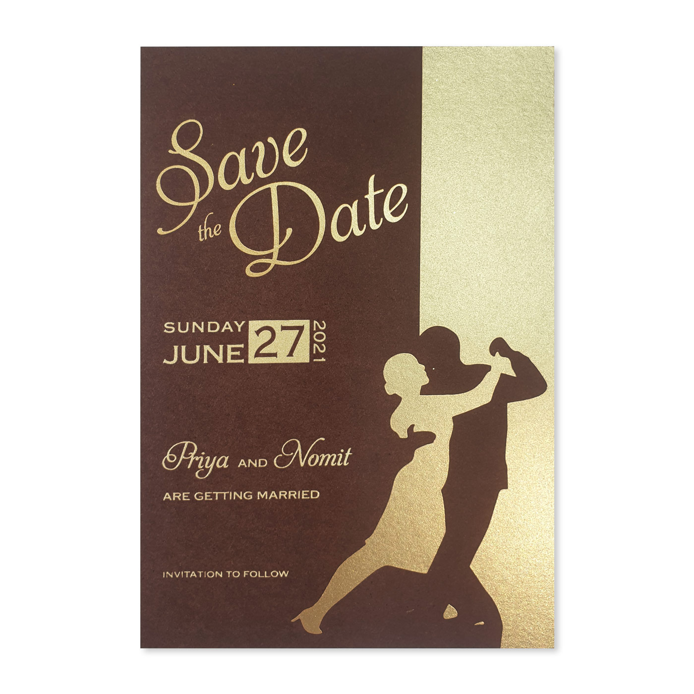 Save The Date Cards : STD-SHINY_DANCING_STARS - 123WeddingCards