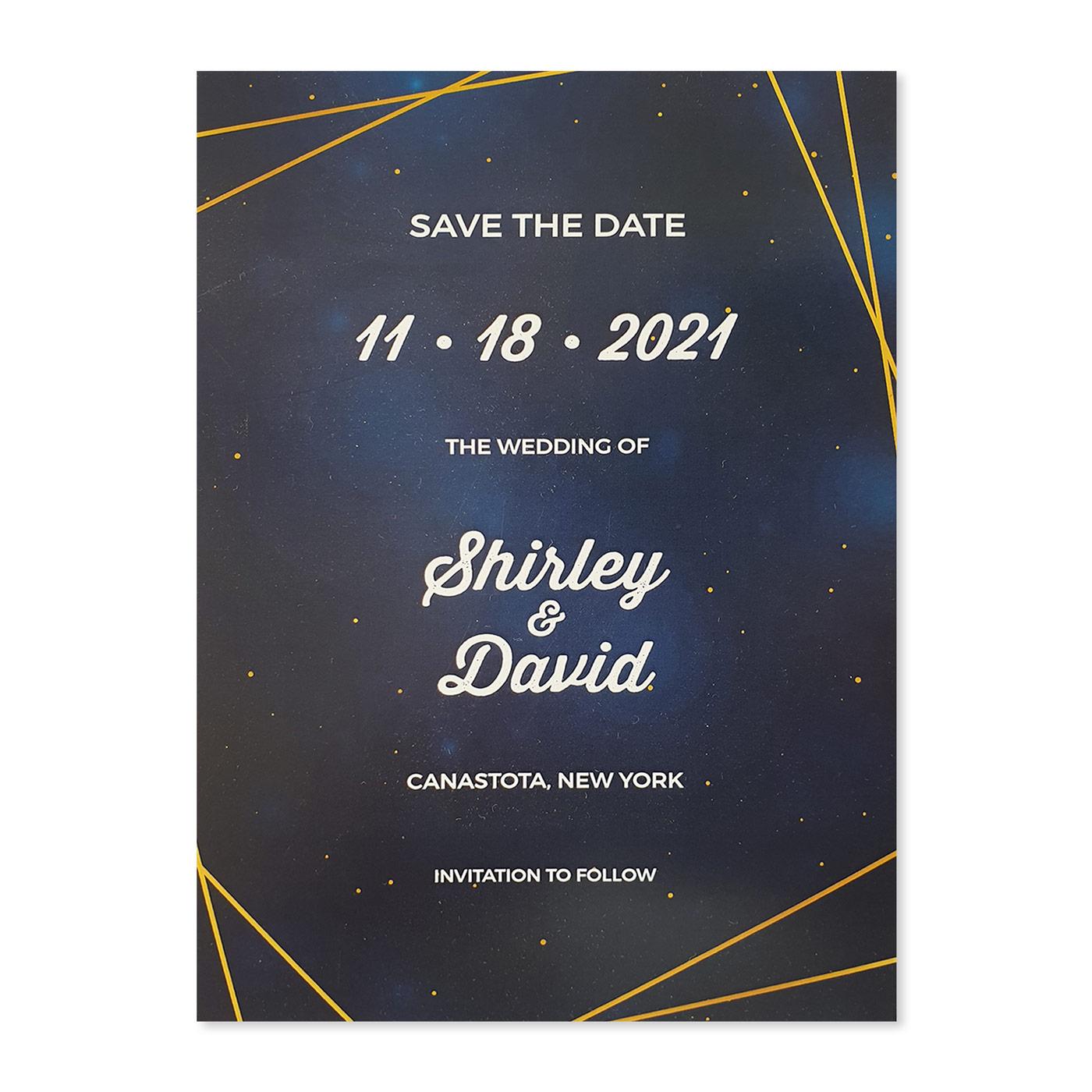 Save The Date Cards : STD-SPARKLING_GALAXY - 123WeddingCards