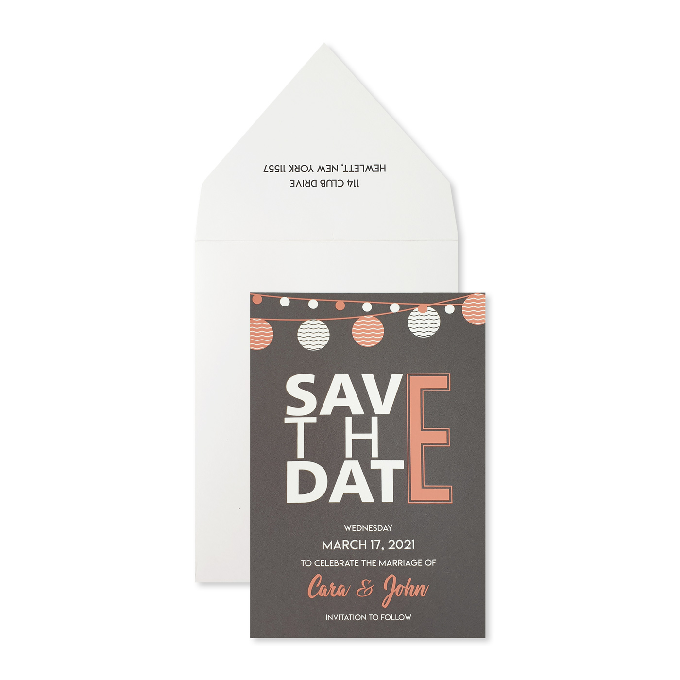 Save The Date Cards : STD-TWINKLING_NIGHTS - 123WeddingCards
