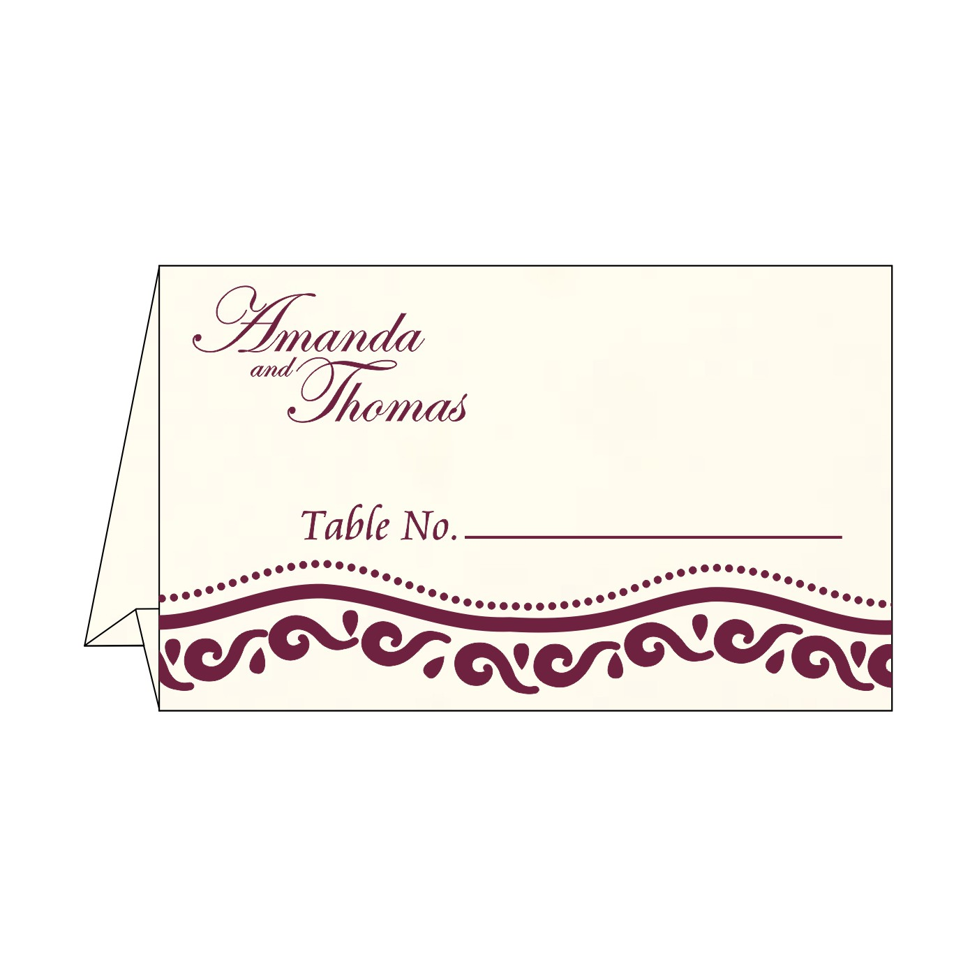 Place Cards : TC-1375 - 123WeddingCards
