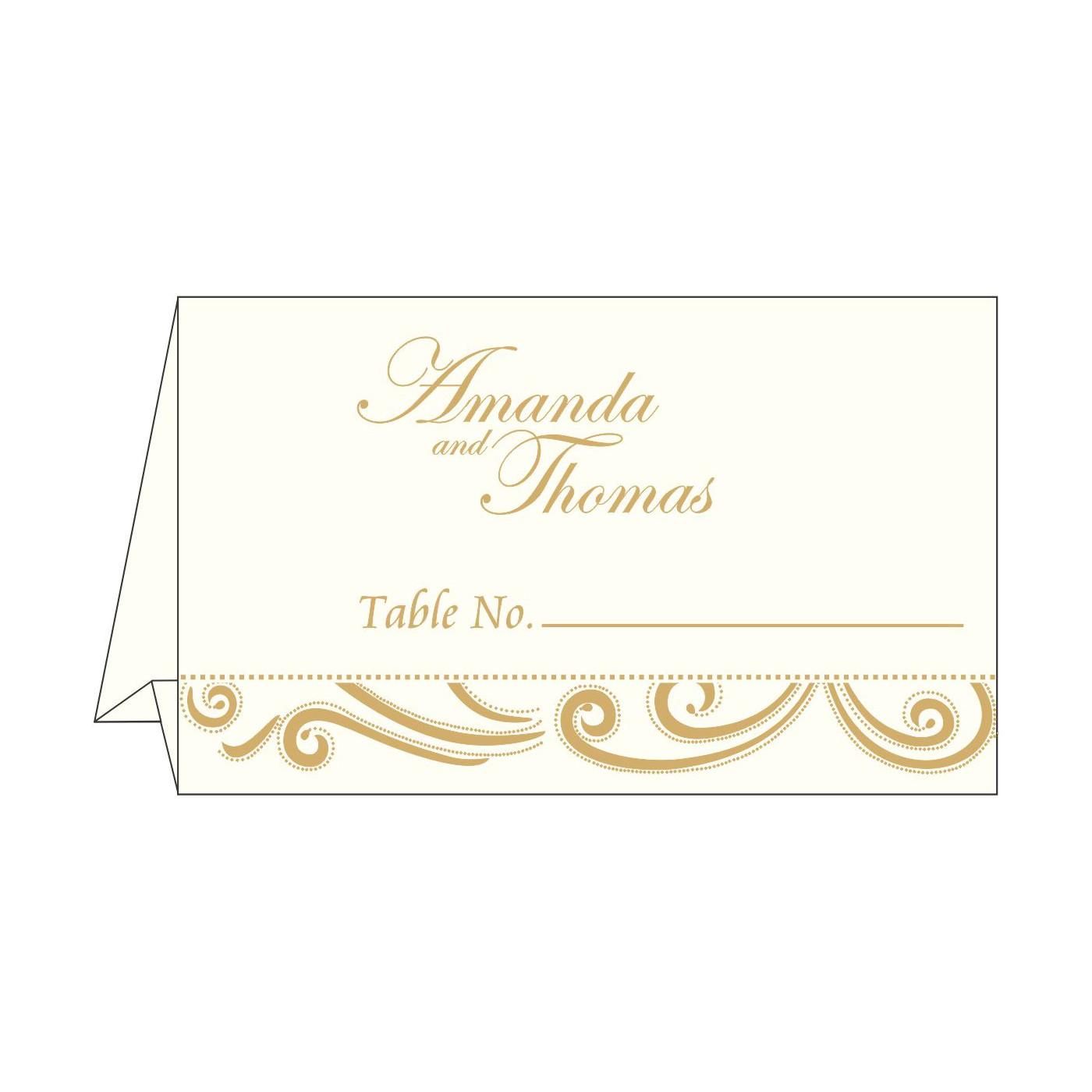 Place Cards : TC-1389 - 123WeddingCards