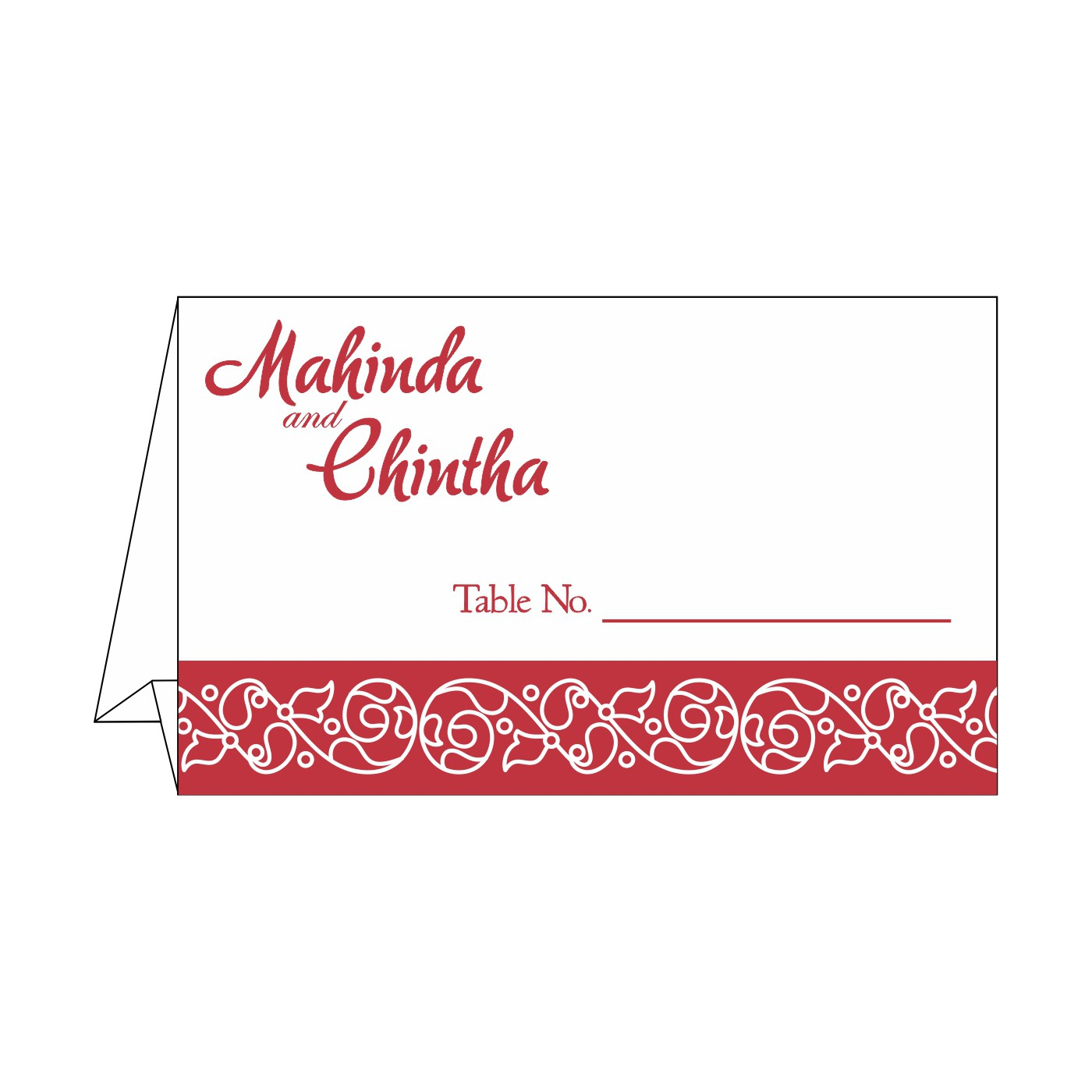Place Cards : TC-1396 - 123WeddingCards