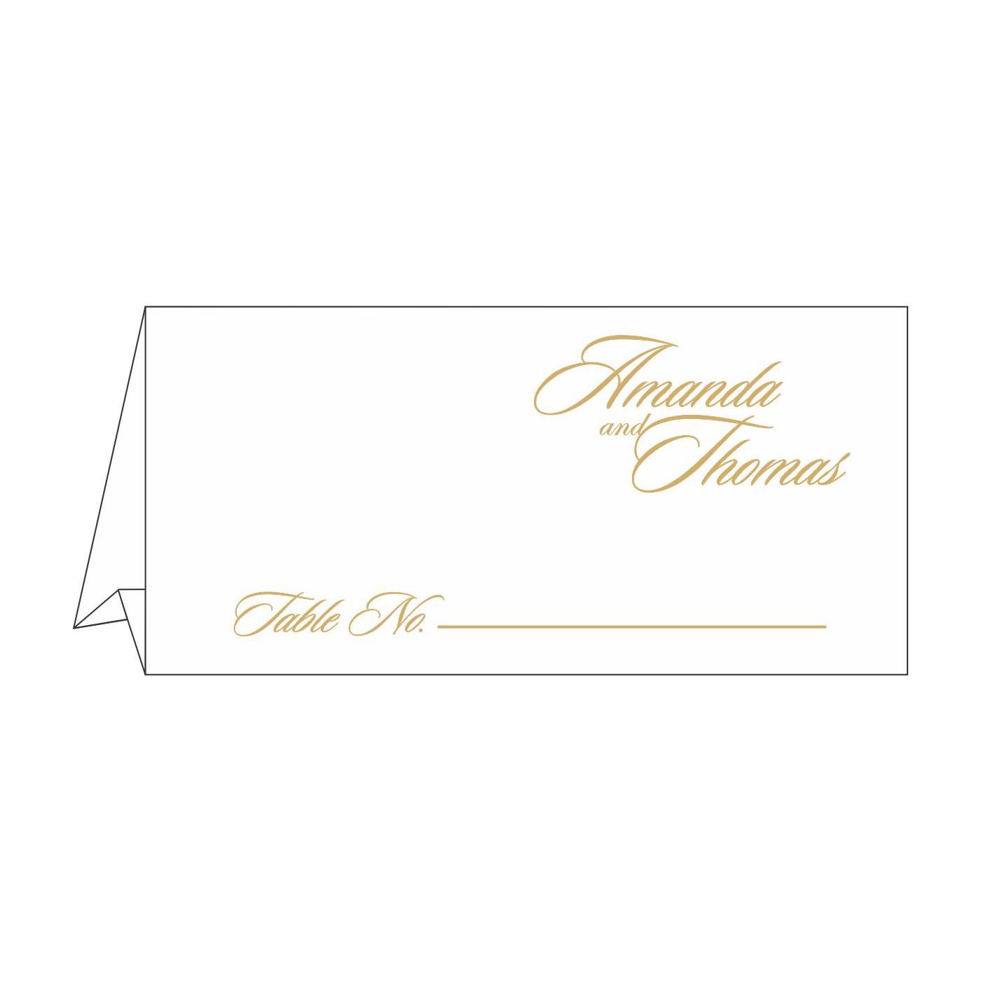 Place Cards : TC-1447 - 123WeddingCards