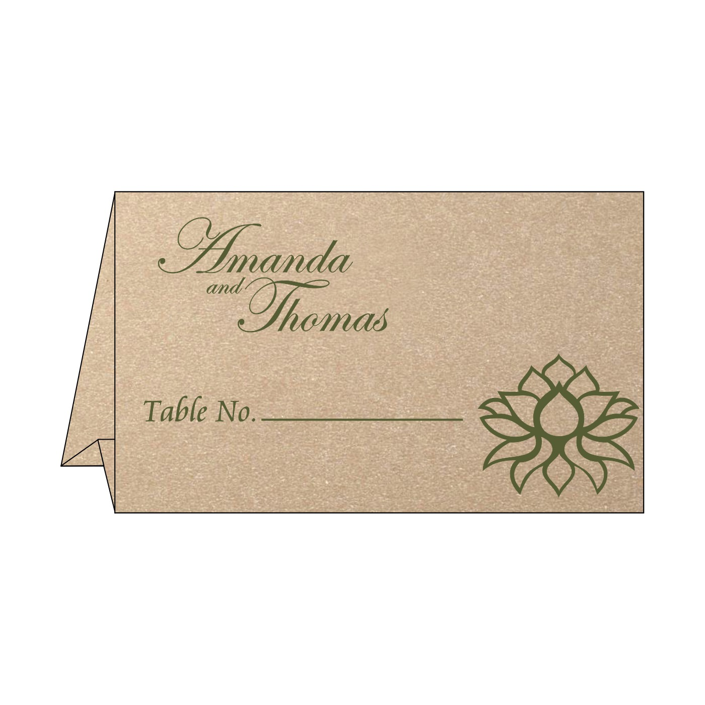 Place Cards : TC-1449 - 123WeddingCards