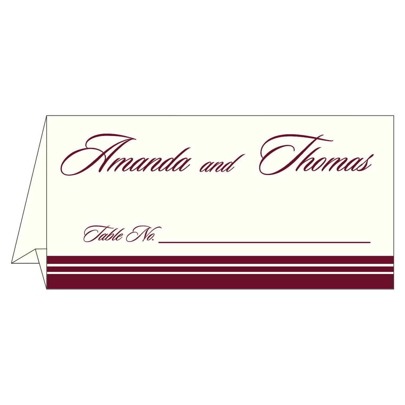 Place Cards : TC-2054 - 123WeddingCards