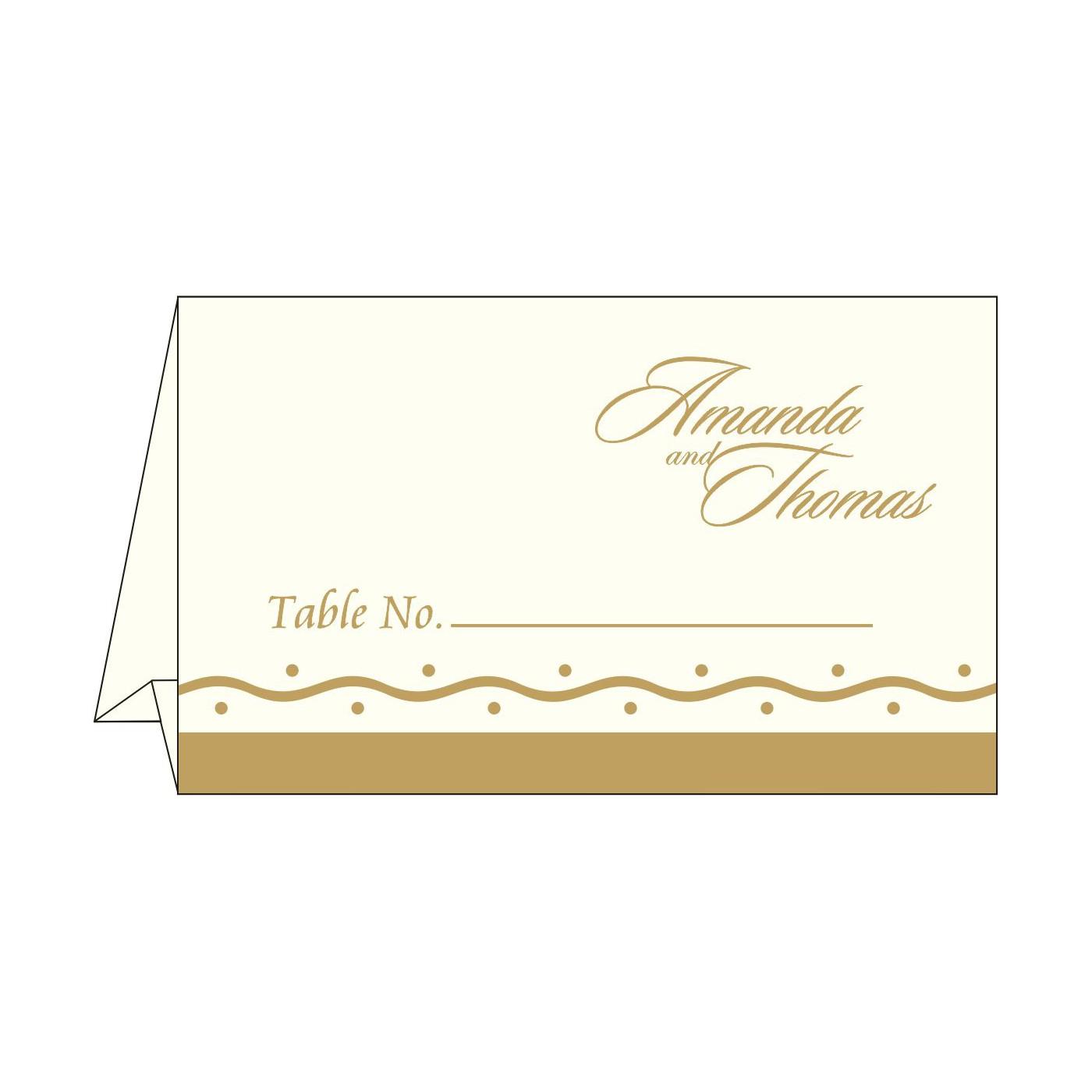Place Cards : TC-2103 - 123WeddingCards