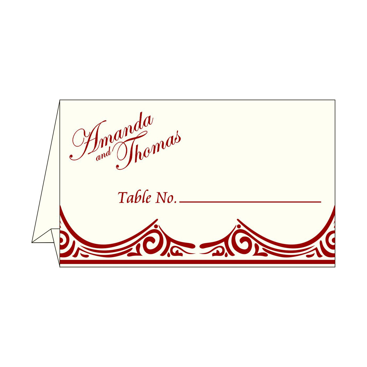 Place Cards : TC-2207 - 123WeddingCards