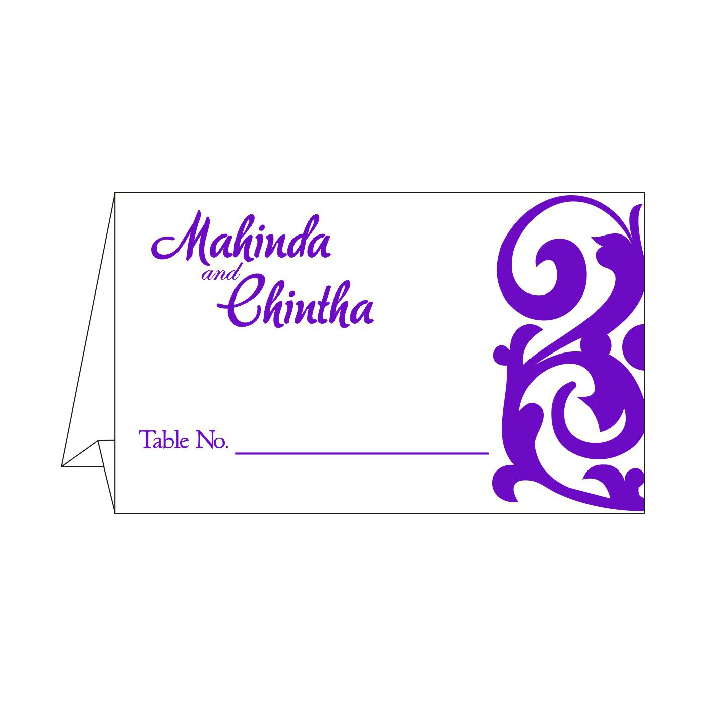 Place Cards : TC-2278 - 123WeddingCards
