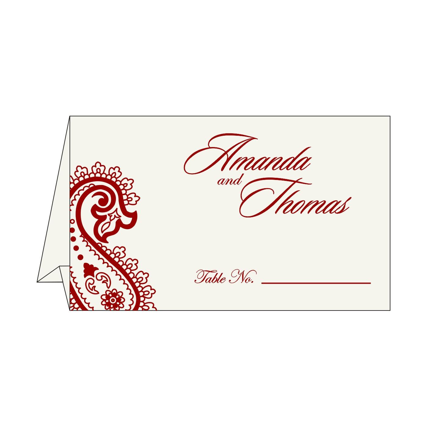 Place Cards : TC-5015M - 123WeddingCards