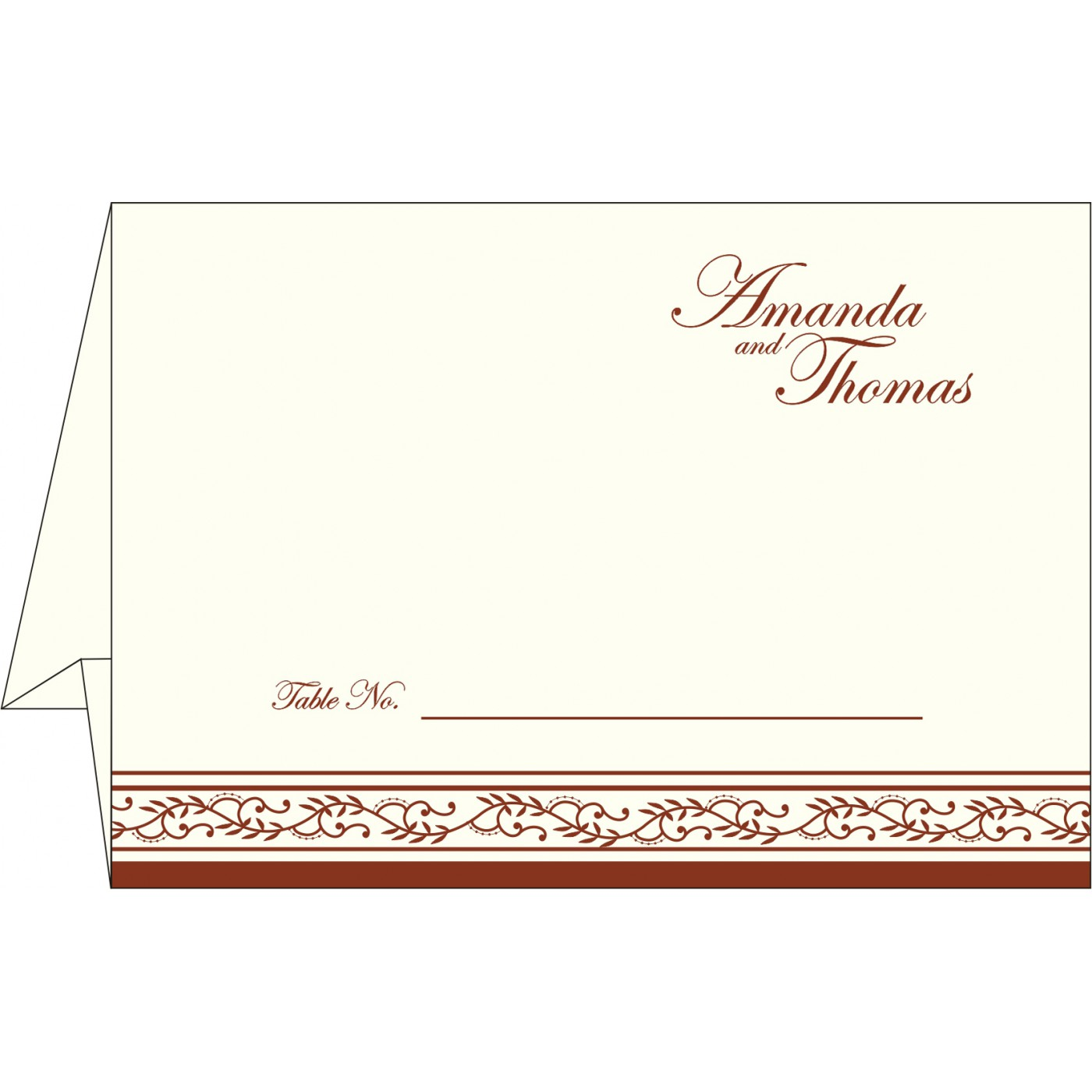 Place Cards : TC-8202A - 123WeddingCards