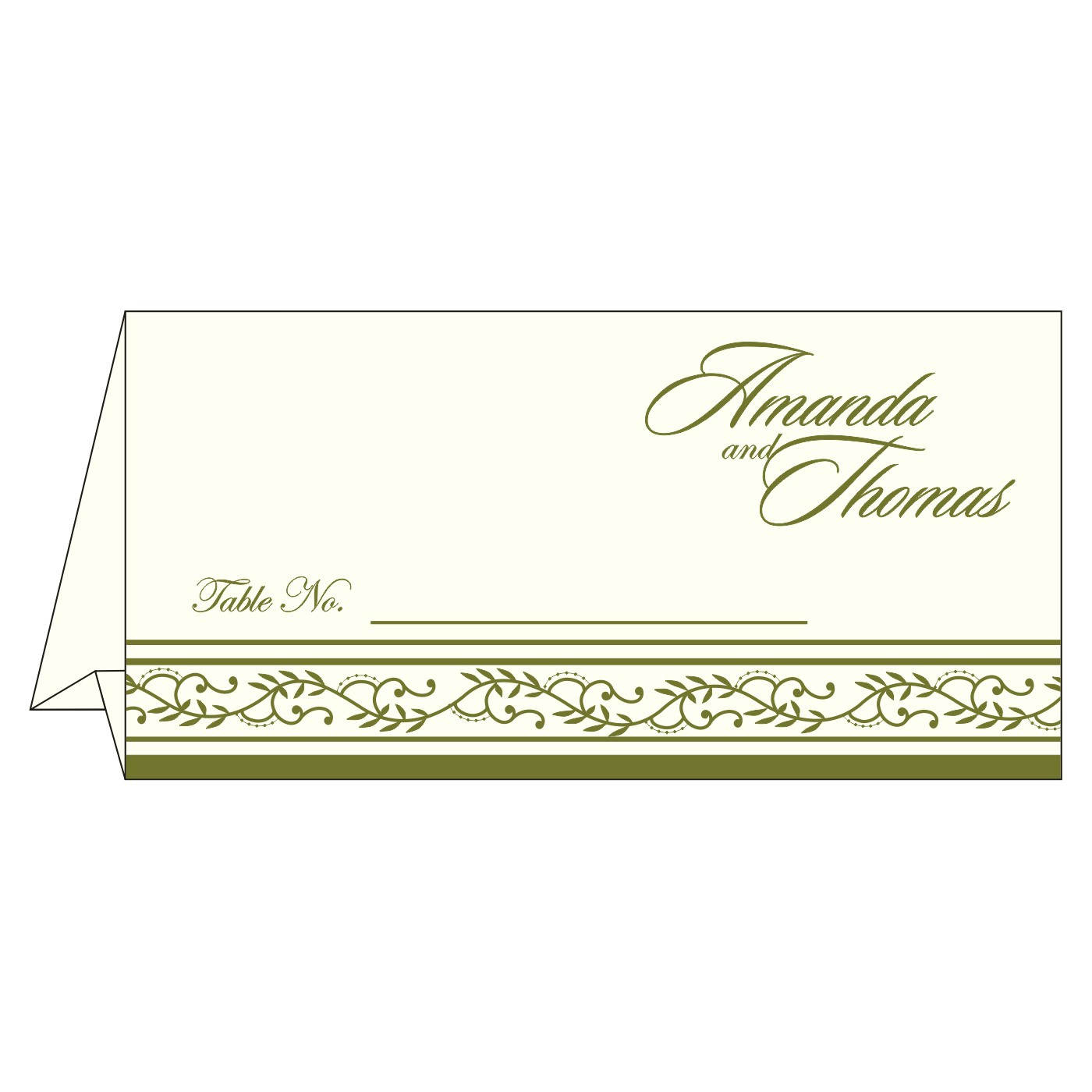 Place Cards : TC-8202C - 123WeddingCards