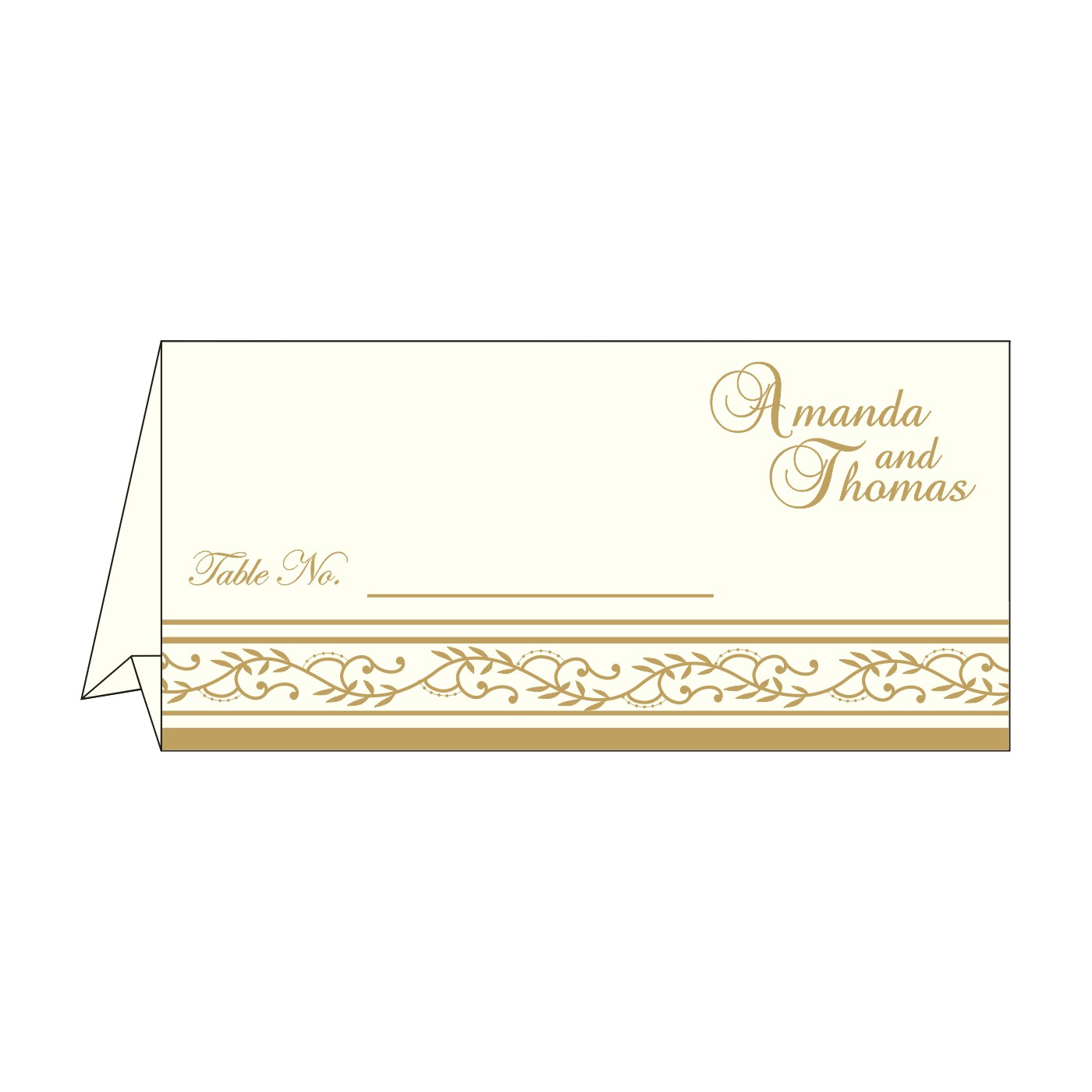 Place Cards : TC-8202D - 123WeddingCards