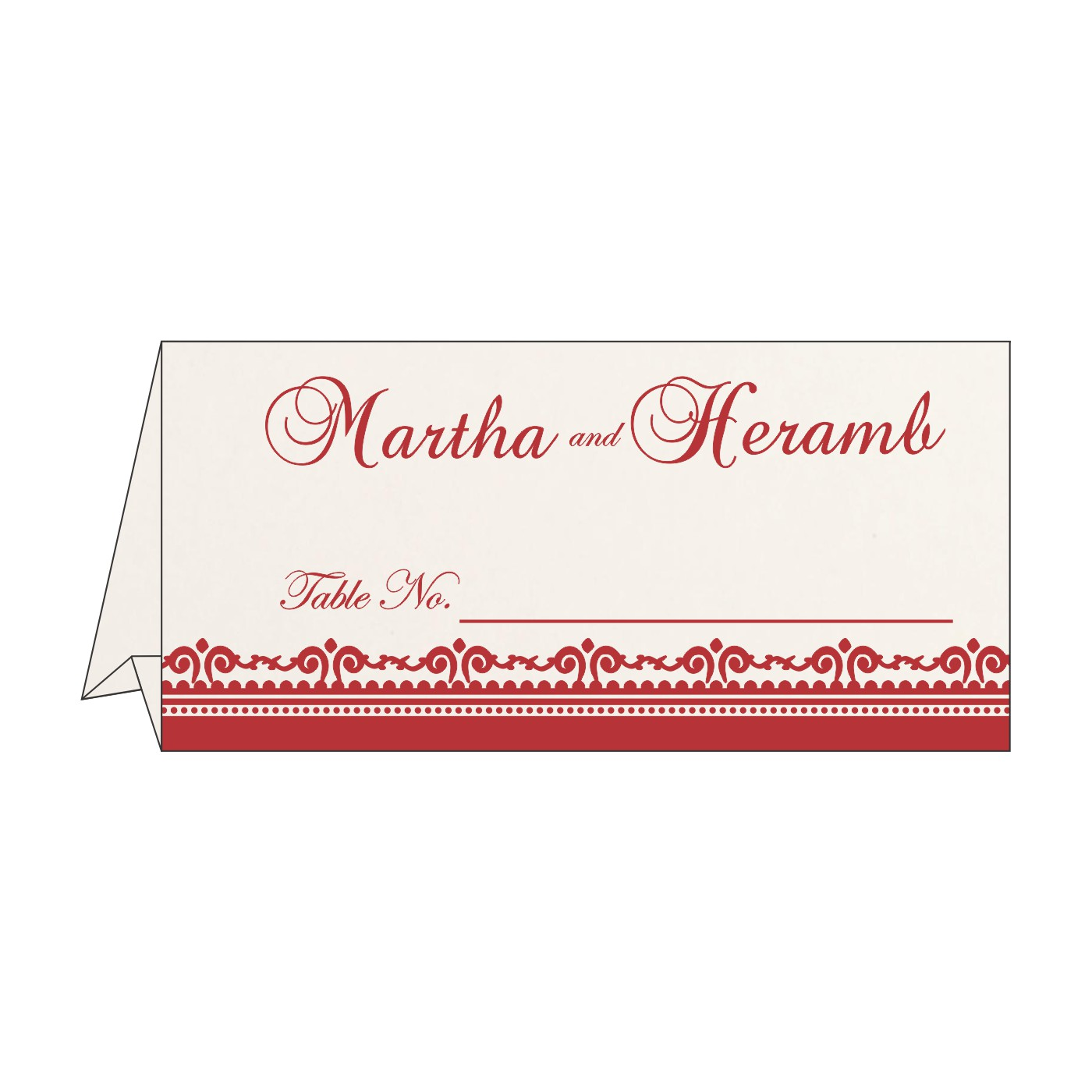 Place Cards : TC-8205J - 123WeddingCards