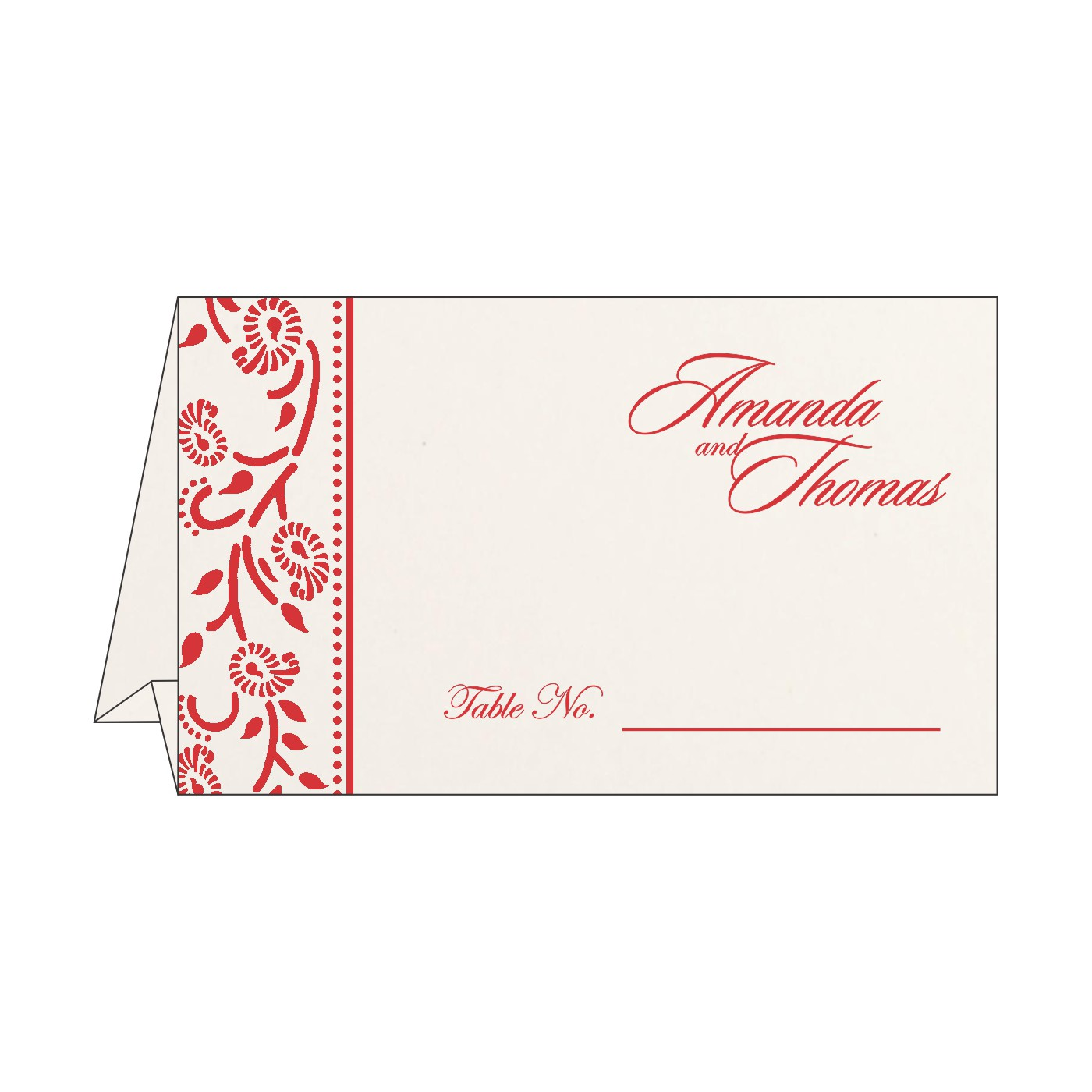 Place Cards : TC-8206C - 123WeddingCards