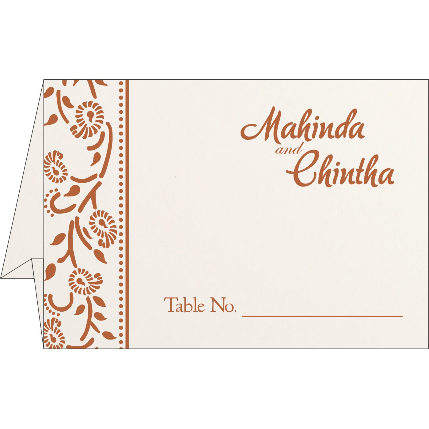 Place Cards : TC-8206G - 123WeddingCards