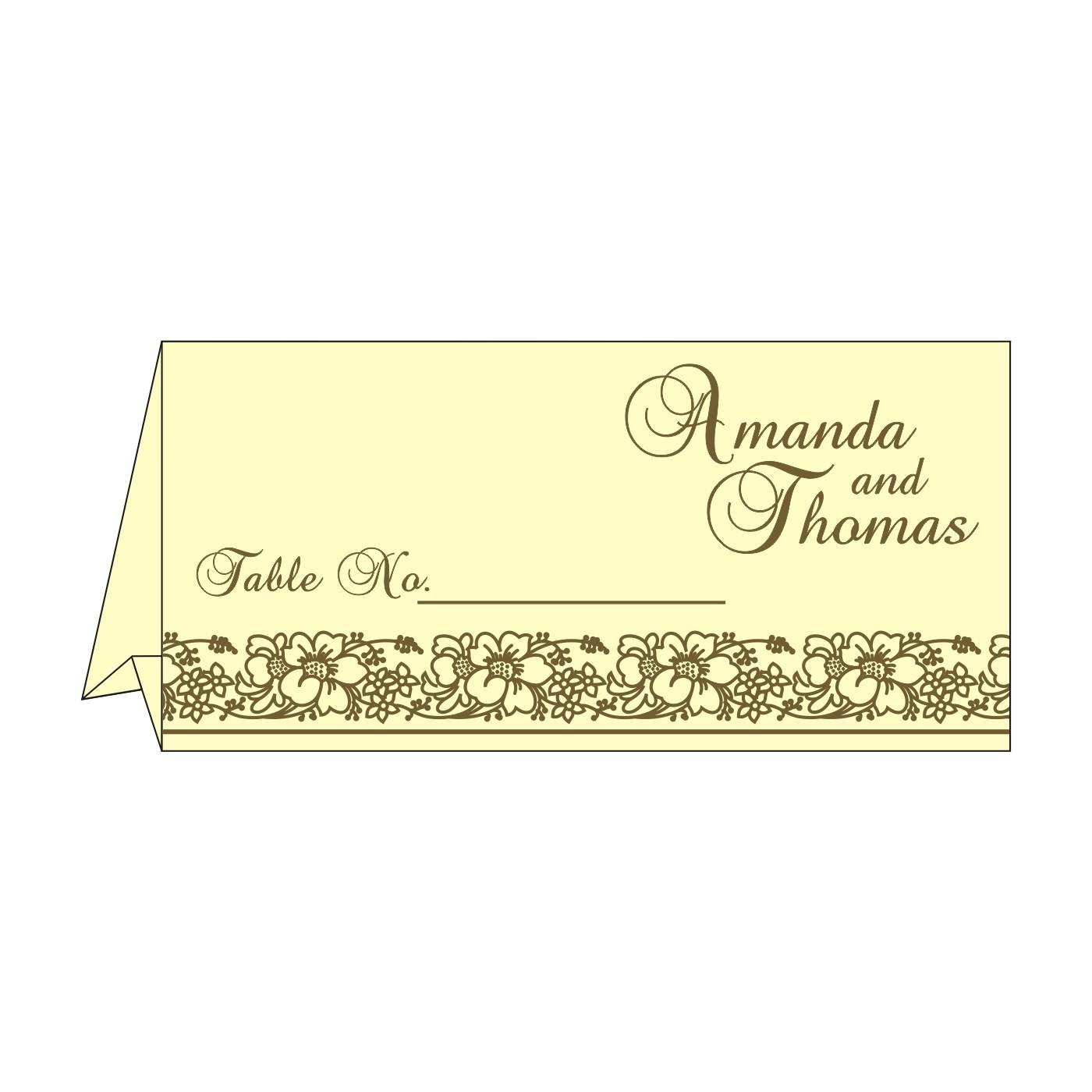 Place Cards : TC-8207H - 123WeddingCards