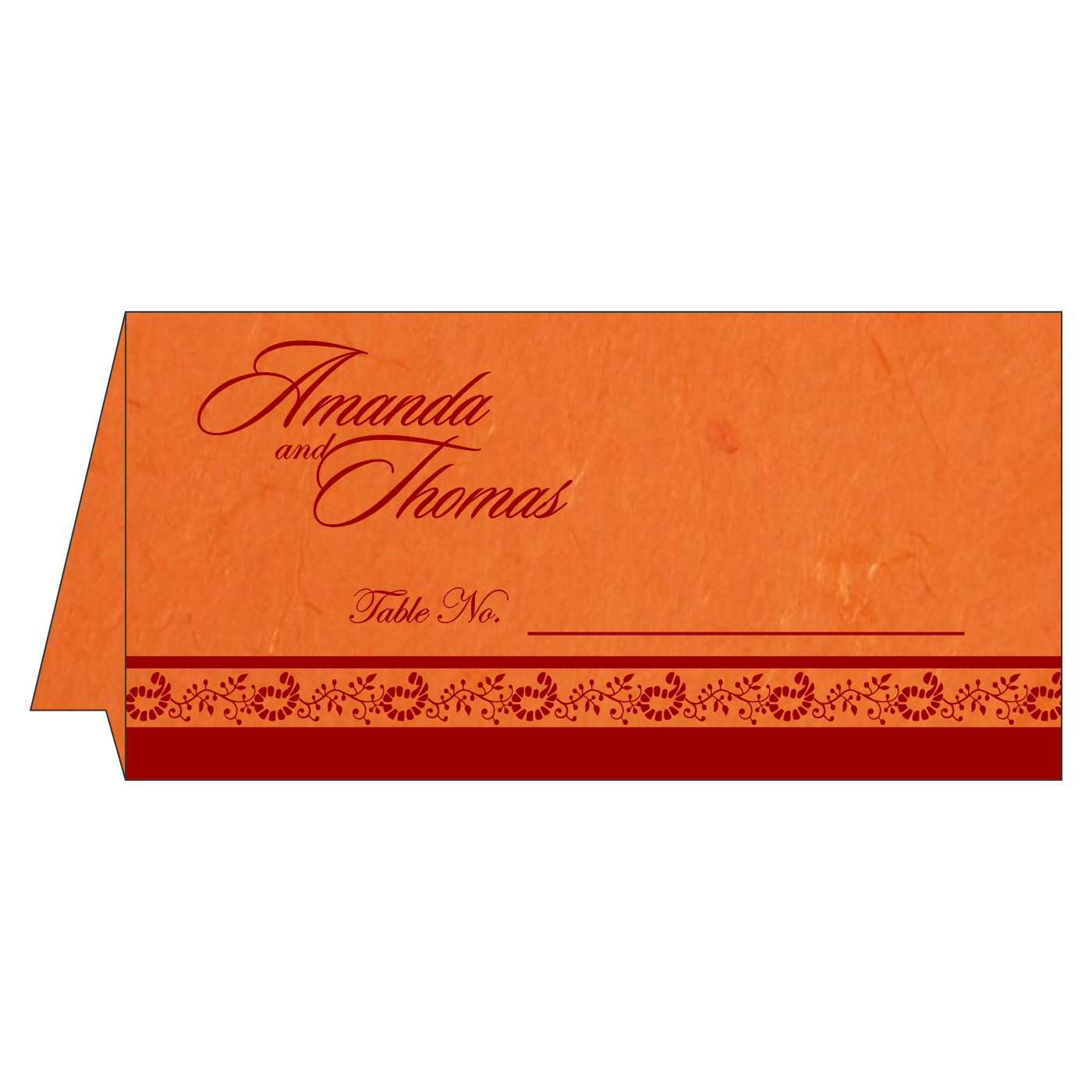 Place Cards : TC-8208G - 123WeddingCards