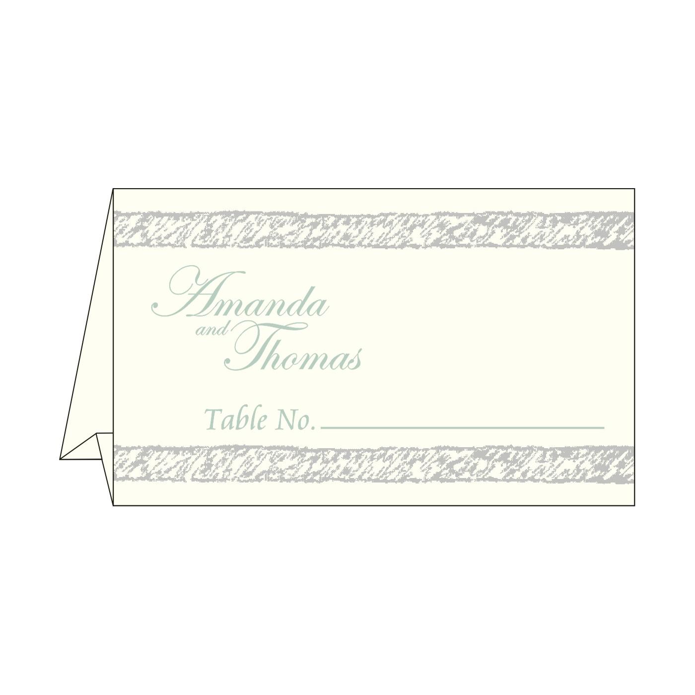 Place Cards : TC-8209F - 123WeddingCards