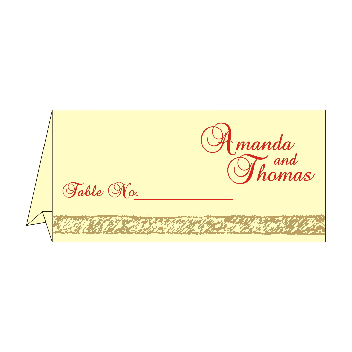Place Cards : TC-8209I - 123WeddingCards