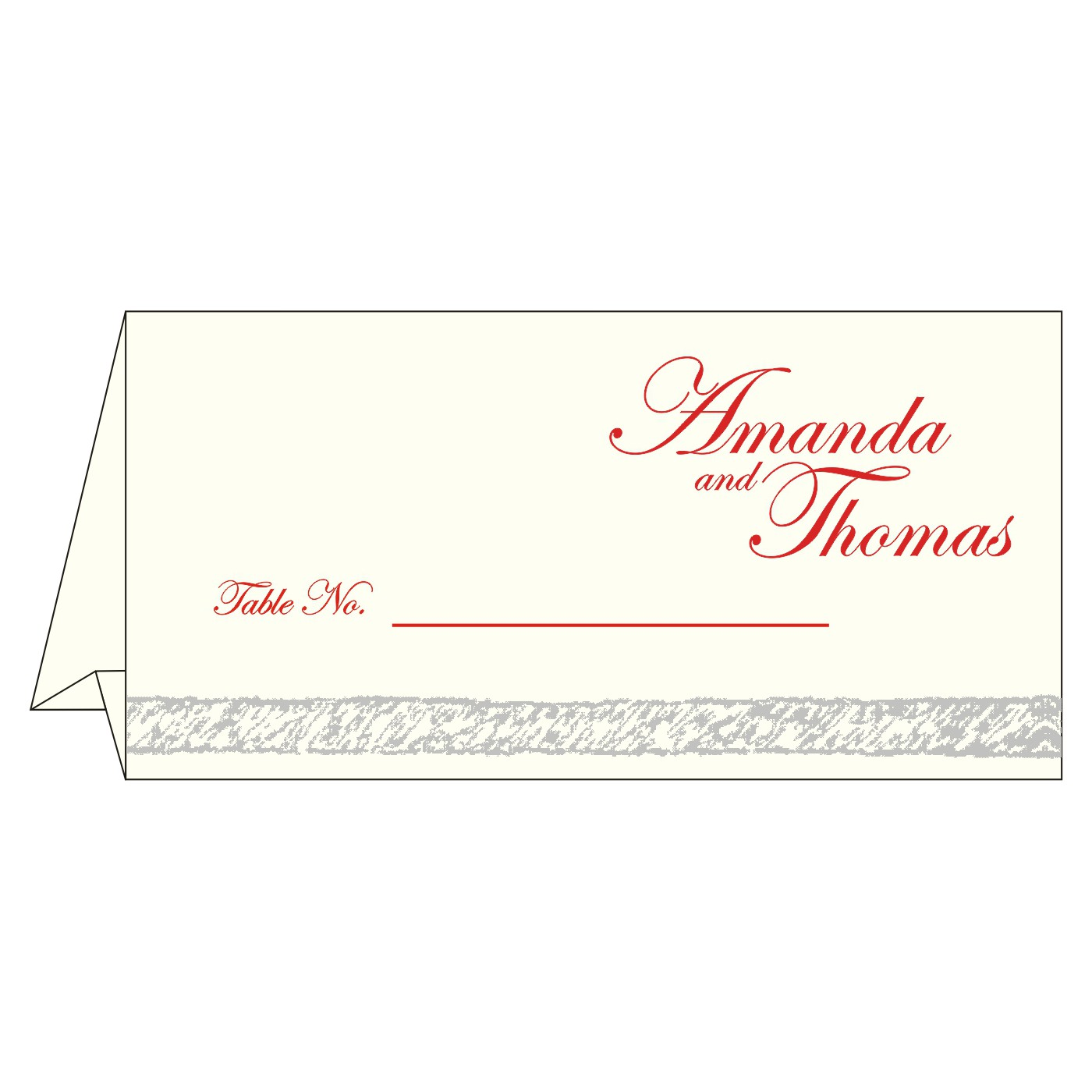 Place Cards : TC-8209N - 123WeddingCards