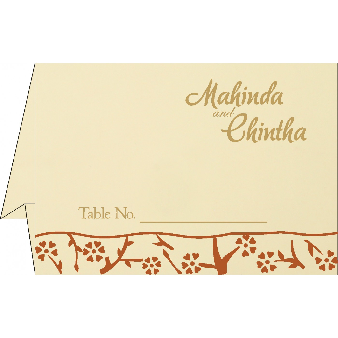 Place Cards : TC-8216E - 123WeddingCards