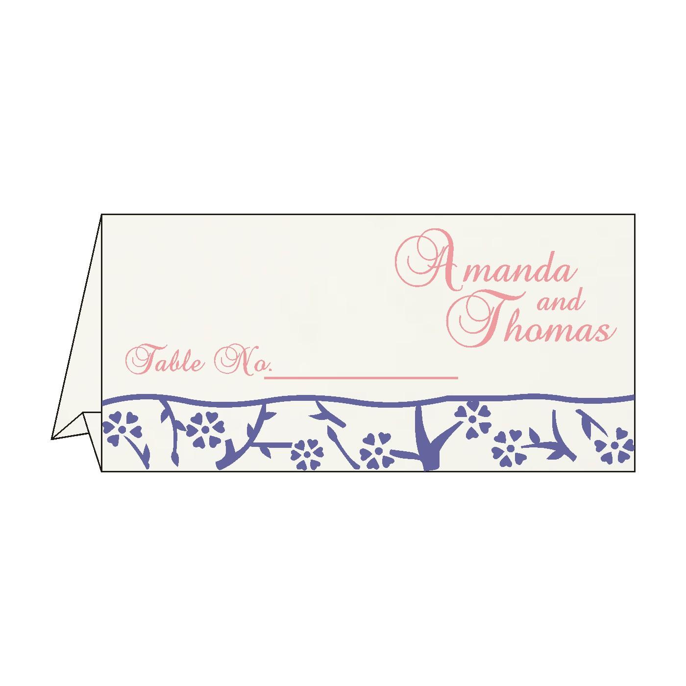 Place Cards : TC-8216I - 123WeddingCards