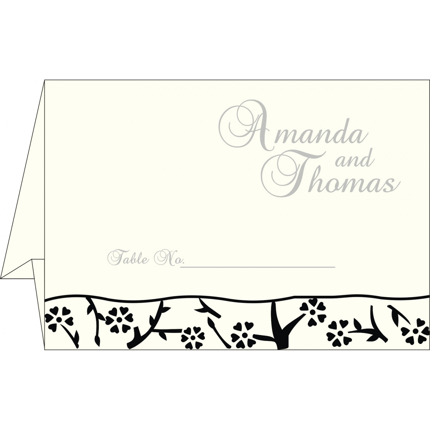 Place Cards : TC-8216N - 123WeddingCards