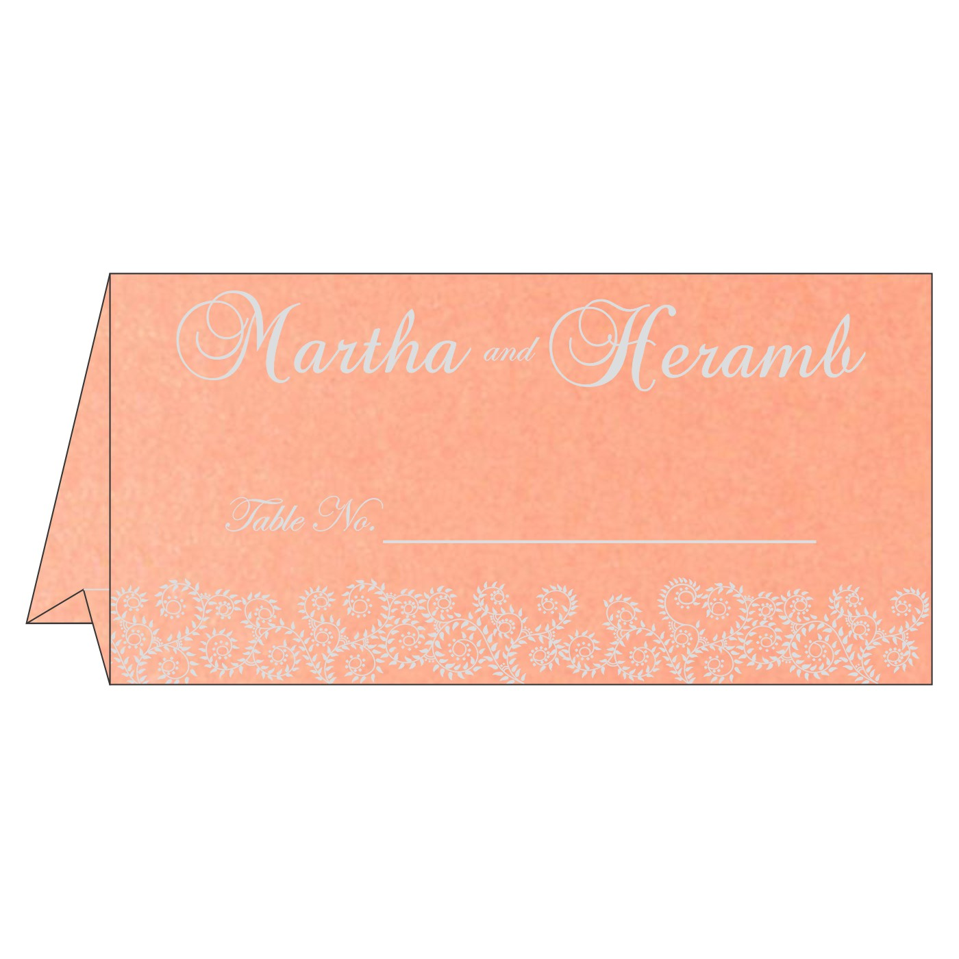 Place Cards : TC-8217E - 123WeddingCards