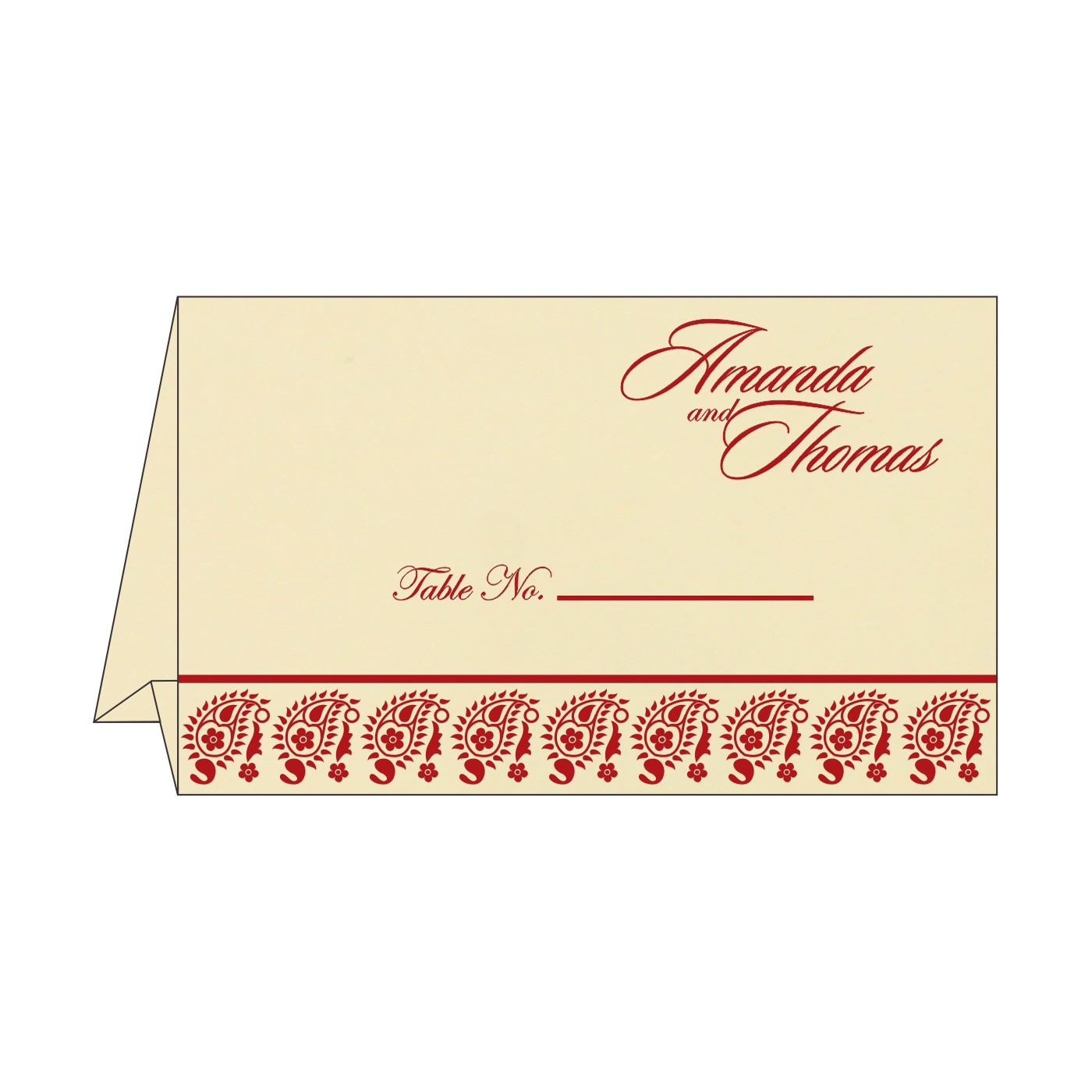 Place Cards : TC-8218B - 123WeddingCards
