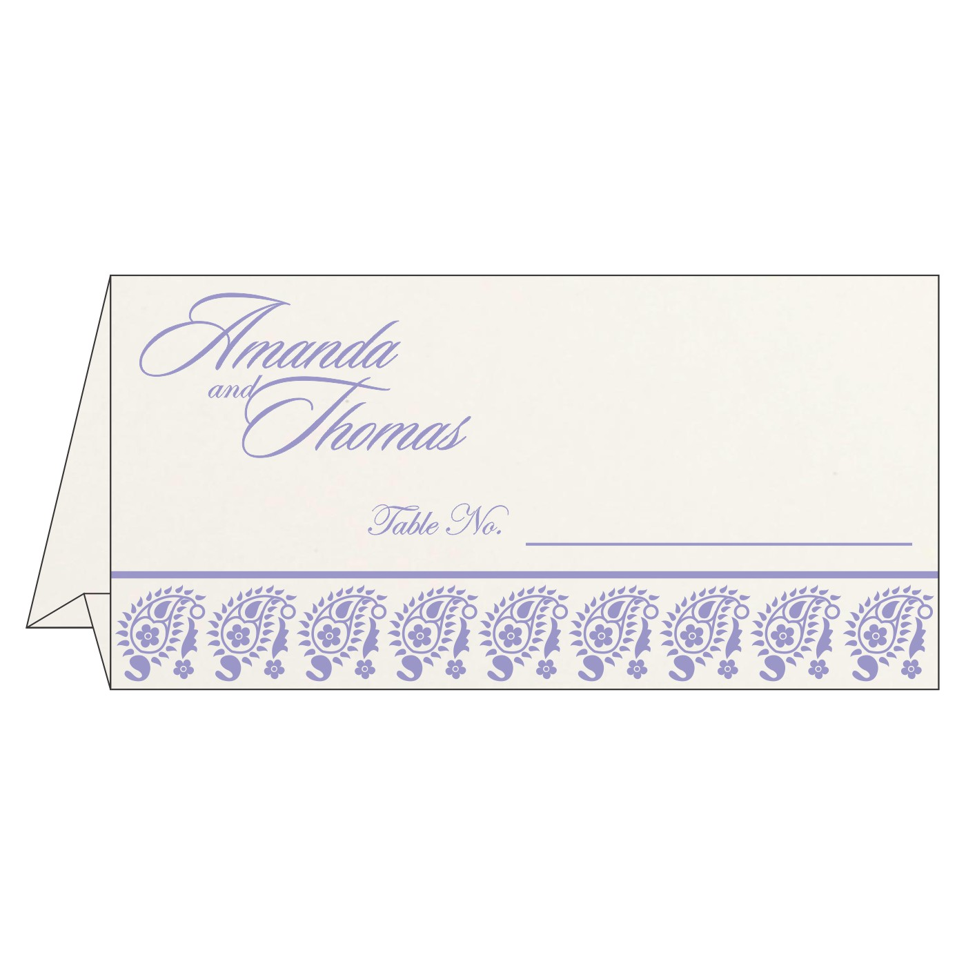 Place Cards : TC-8218H - 123WeddingCards