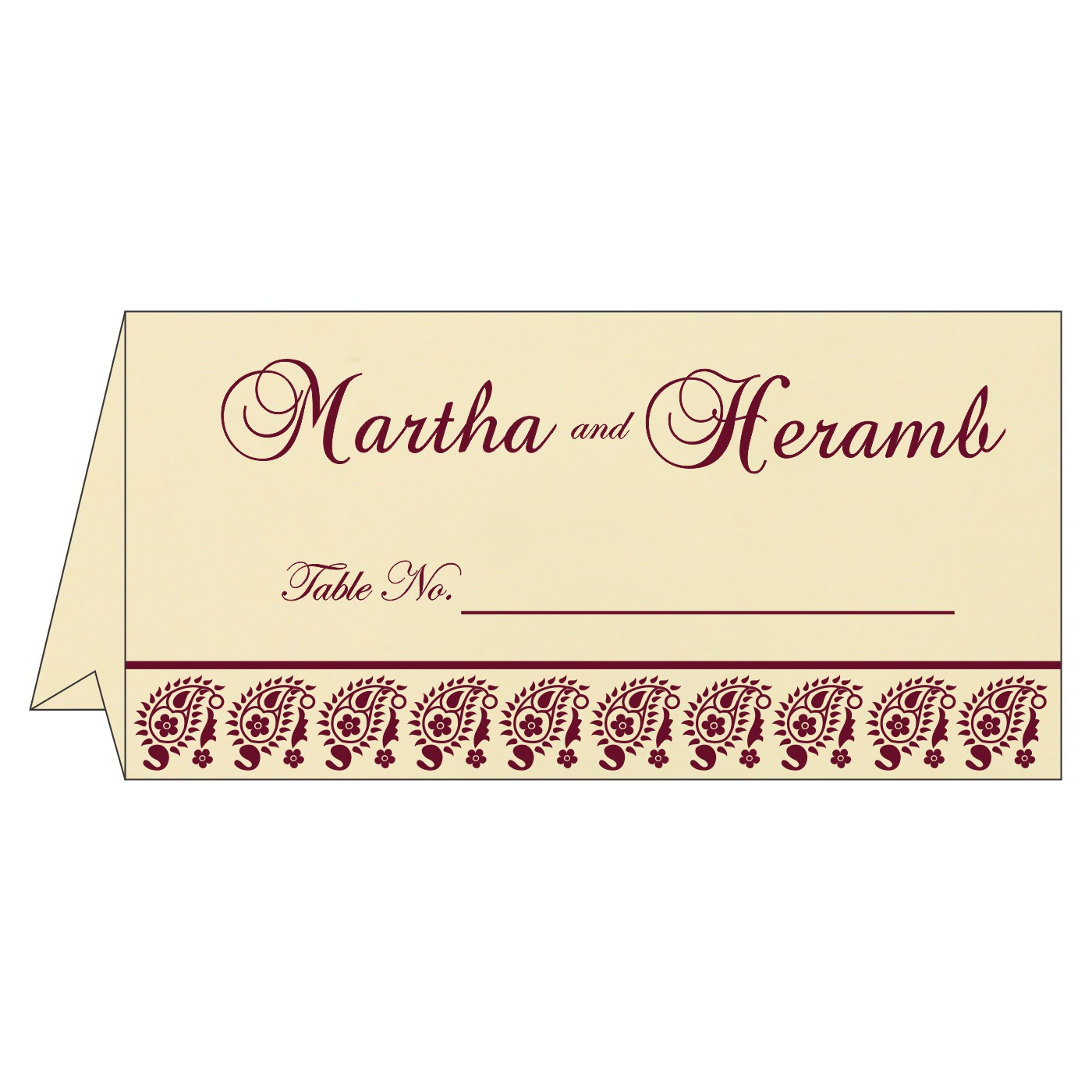 Place Cards : TC-8218N - 123WeddingCards