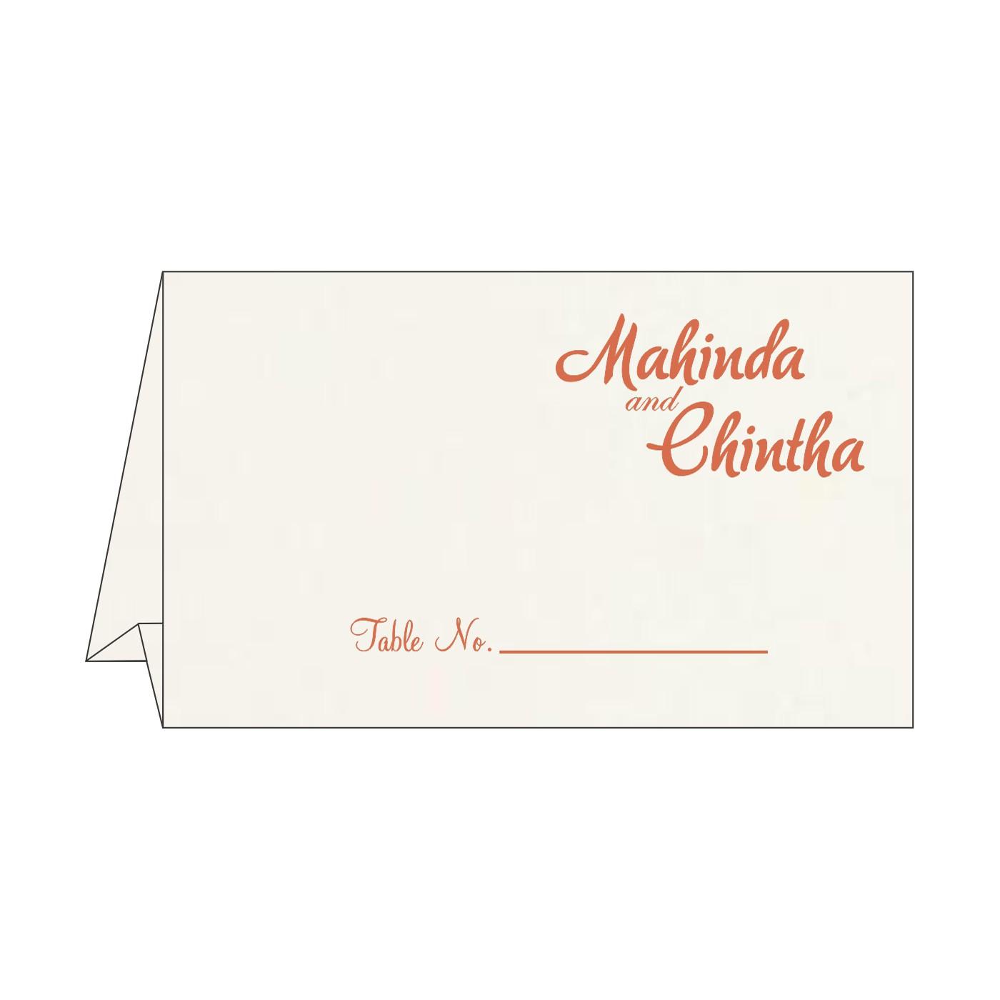 Place Cards : TC-8221L - 123WeddingCards