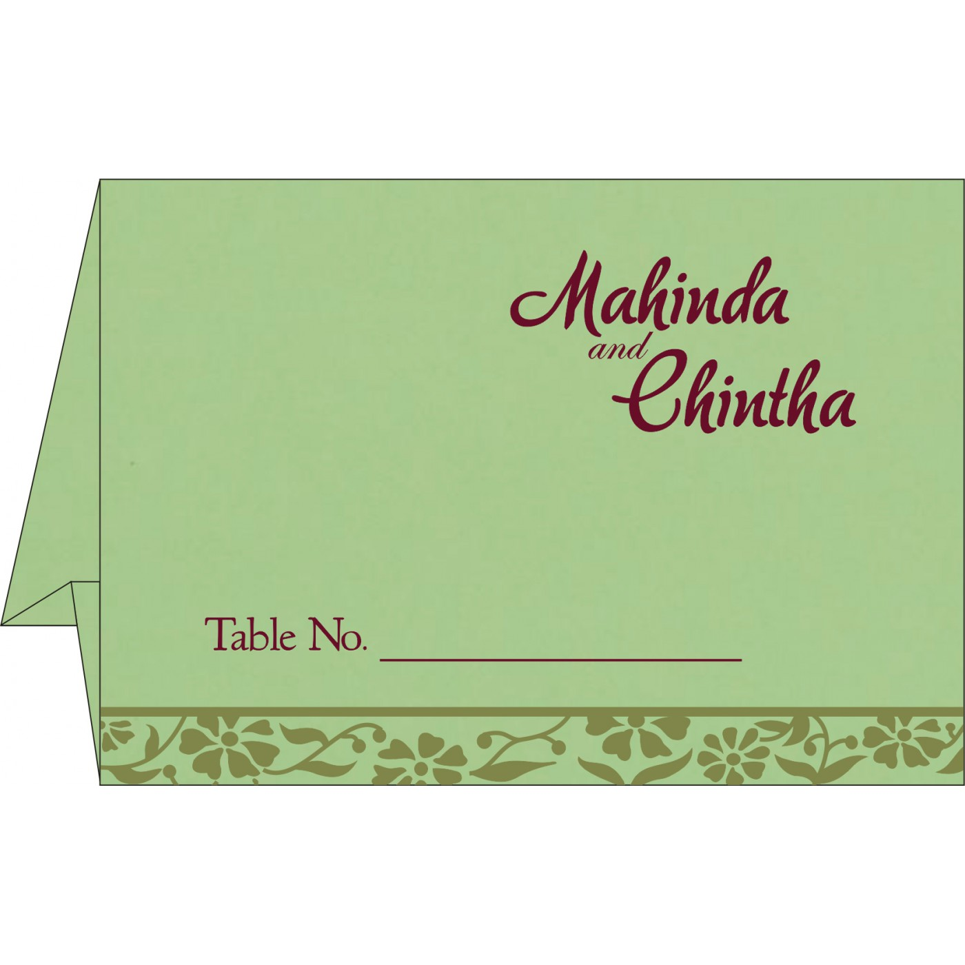 Place Cards : TC-8222G - 123WeddingCards