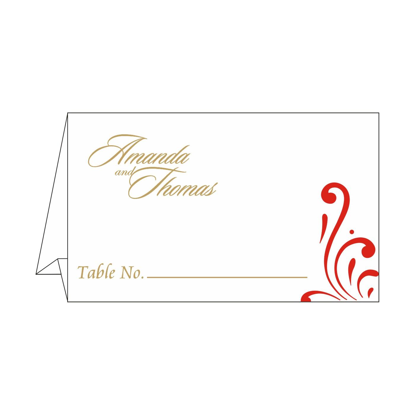 Place Cards : TC-8223C - 123WeddingCards
