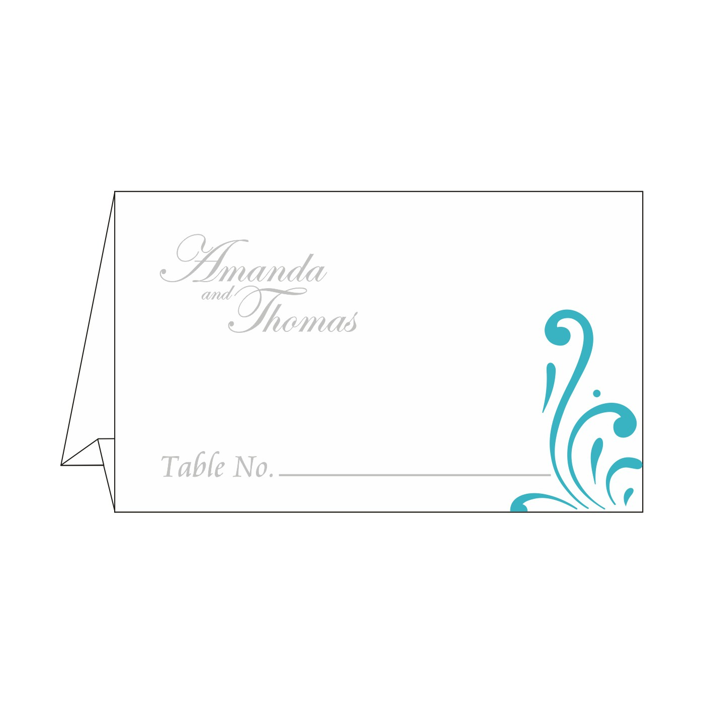 Place Cards : TC-8223H - 123WeddingCards