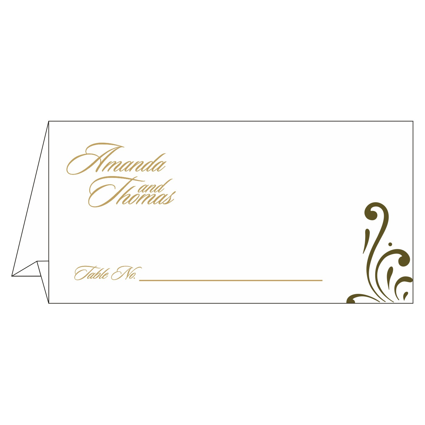 Place Cards : TC-8223I - 123WeddingCards