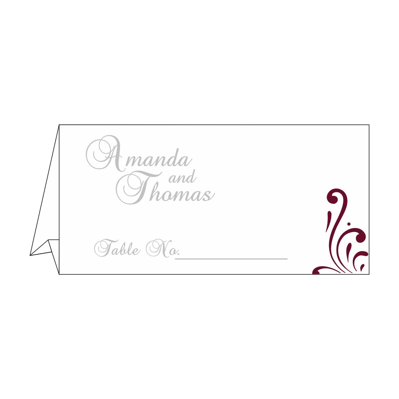 Place Cards : TC-8223J - 123WeddingCards