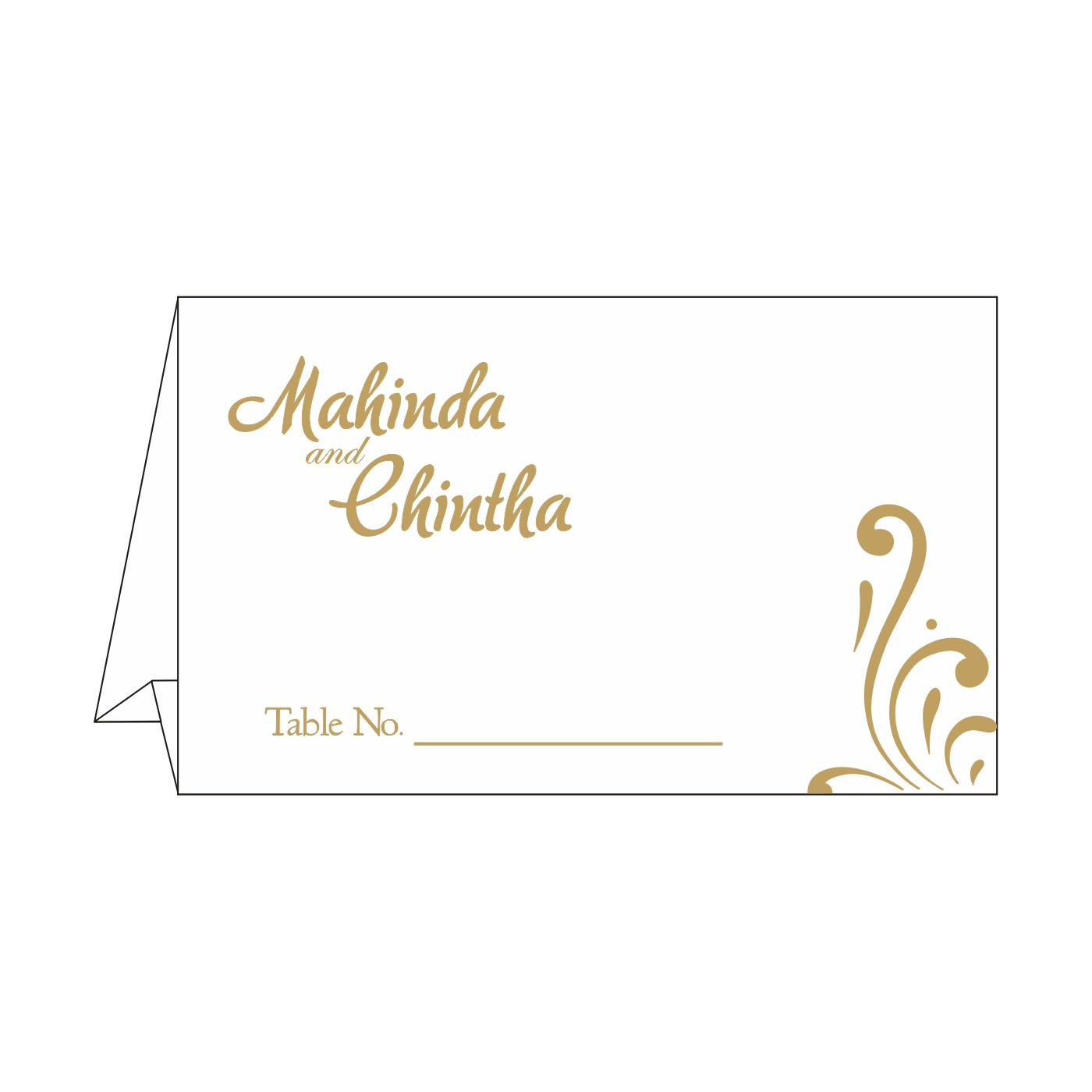 Place Cards : TC-8223L - 123WeddingCards