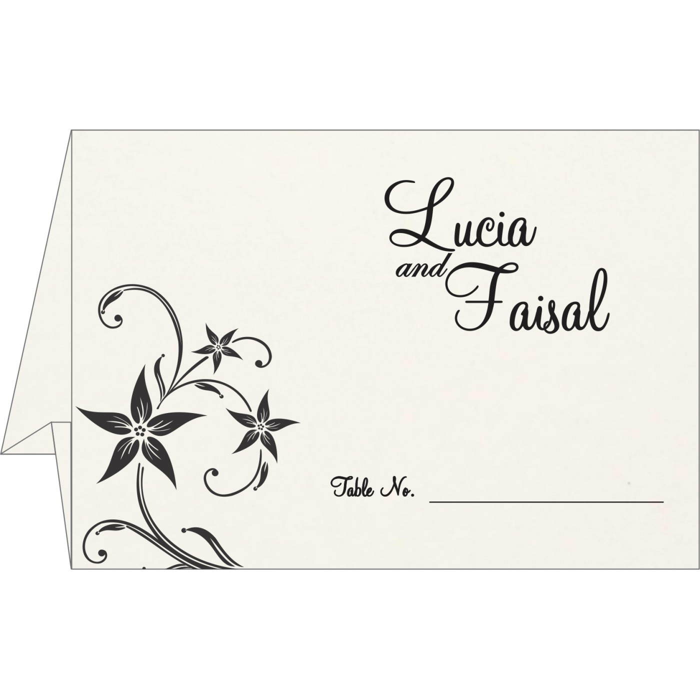 Place Cards : TC-8225A - 123WeddingCards
