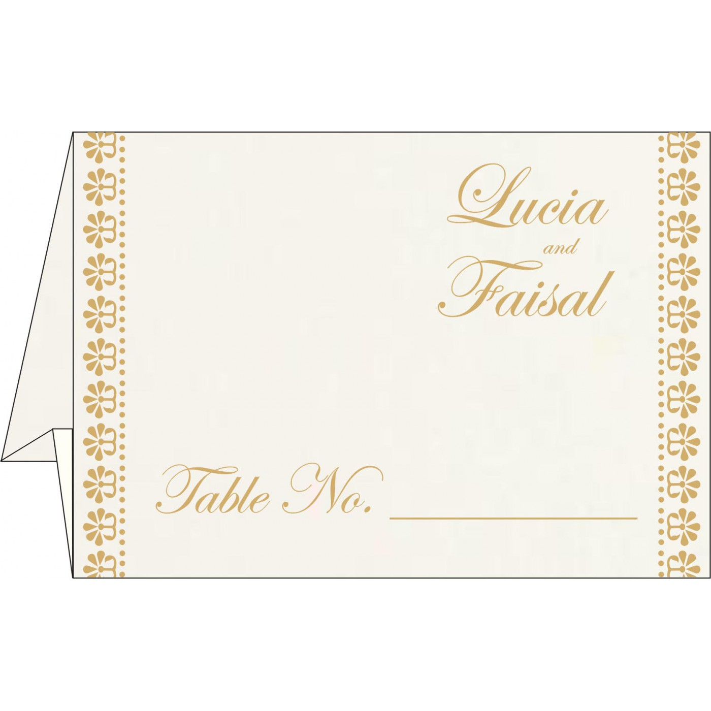 Place Cards : TC-8231J - 123WeddingCards