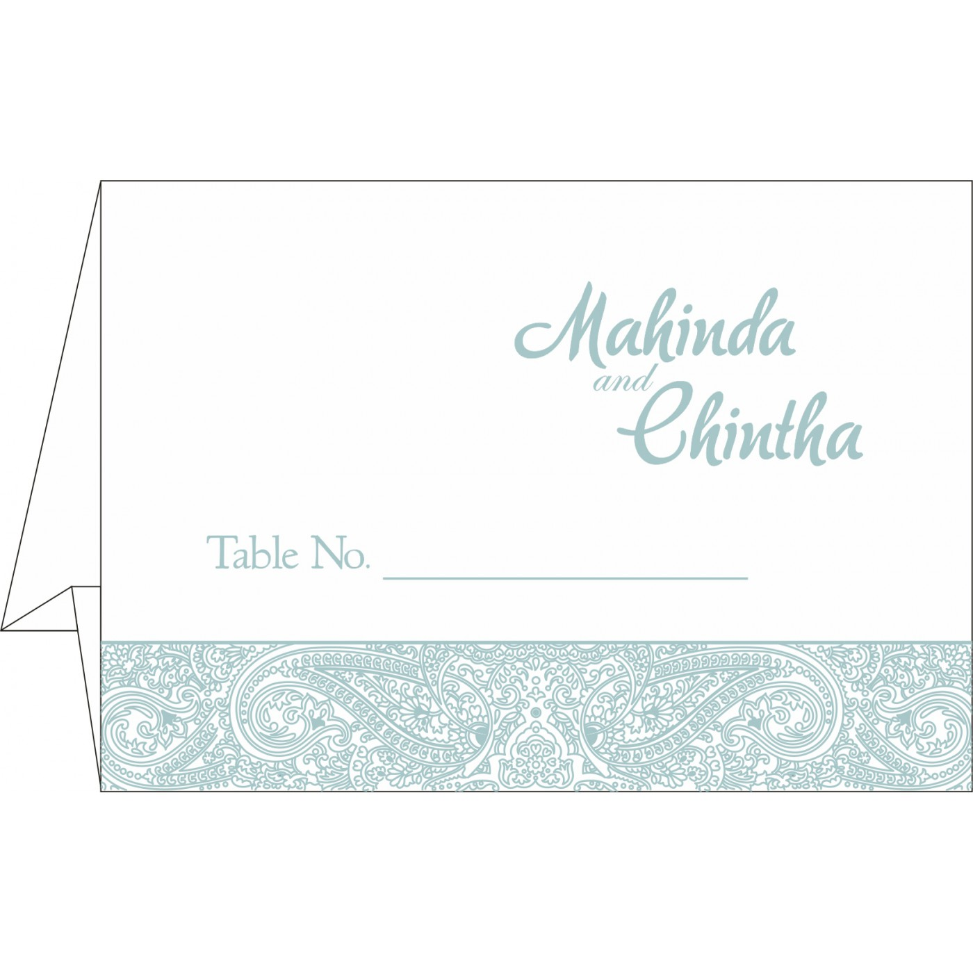 Place Cards : TC-8234E - 123WeddingCards