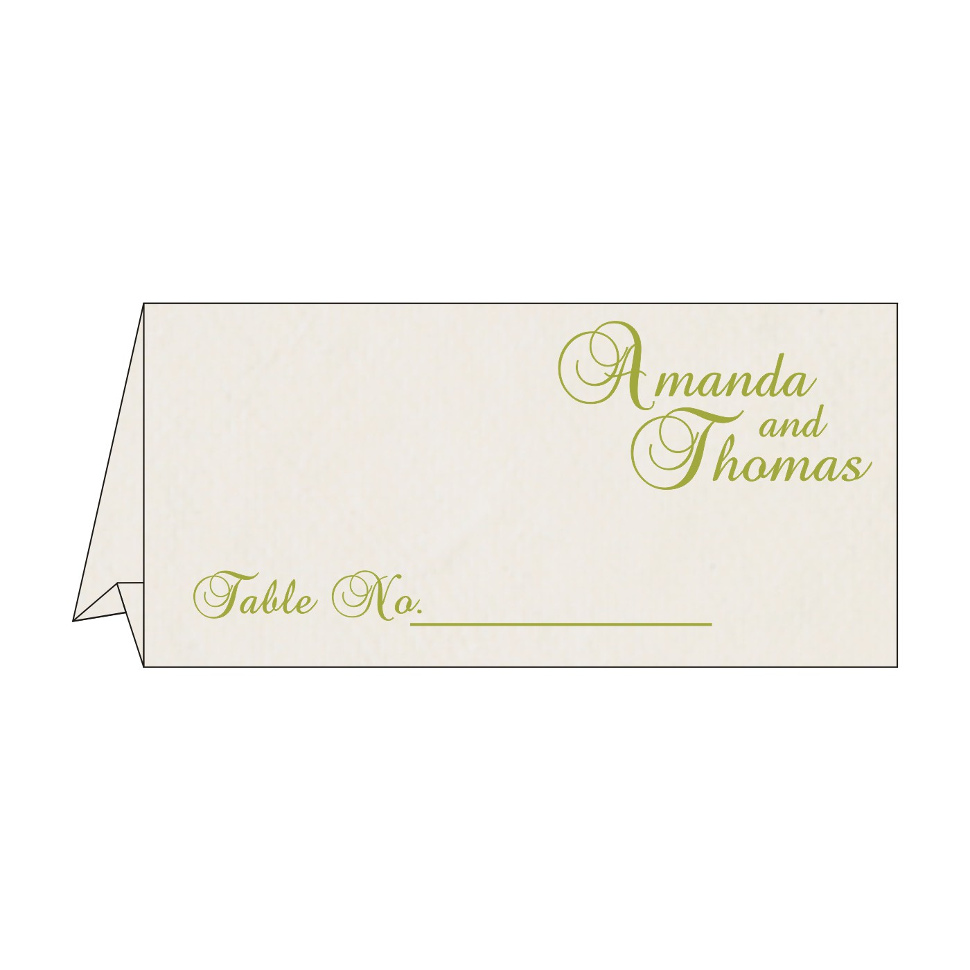 Place Cards : TC-8234H - 123WeddingCards