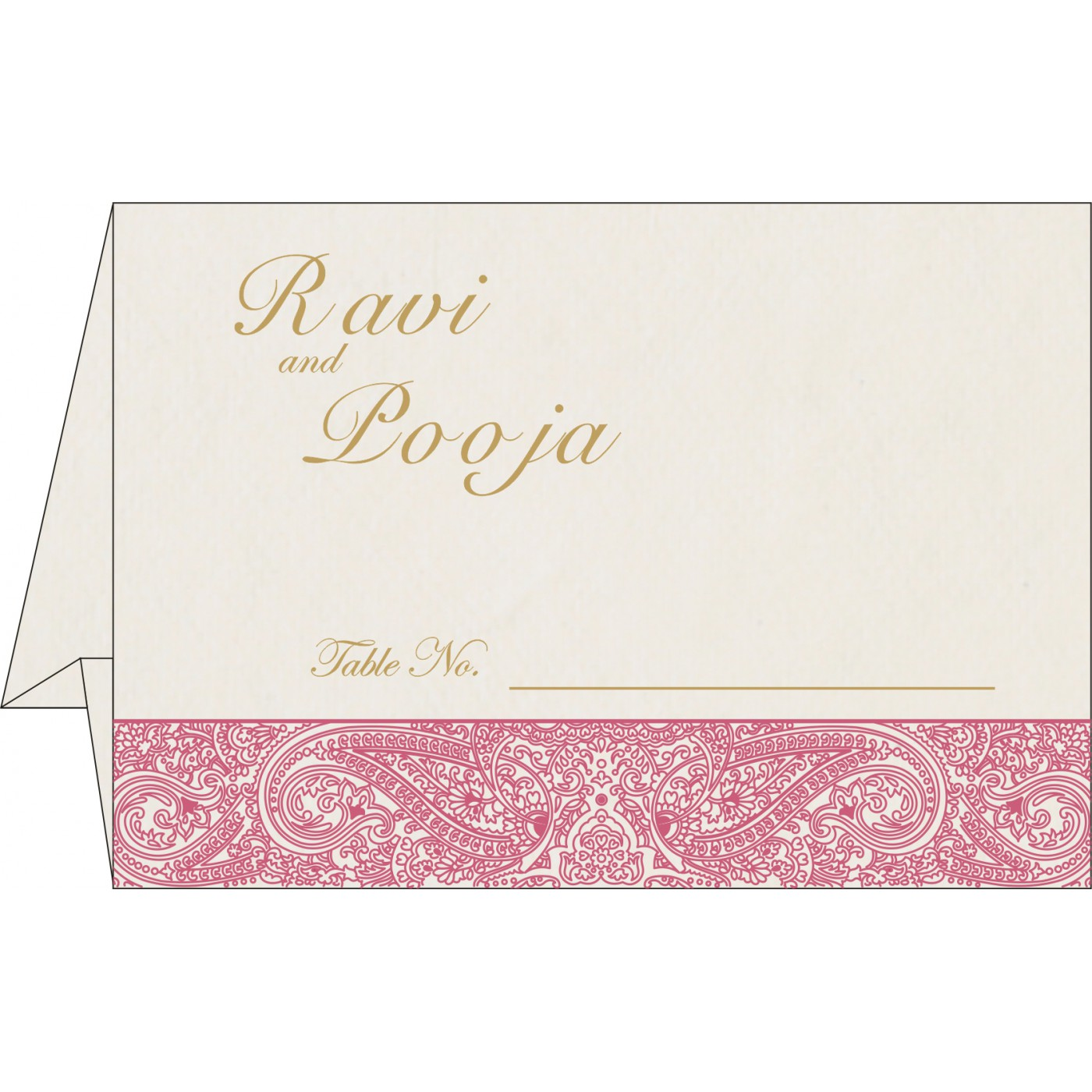 Place Cards : TC-8234I - 123WeddingCards